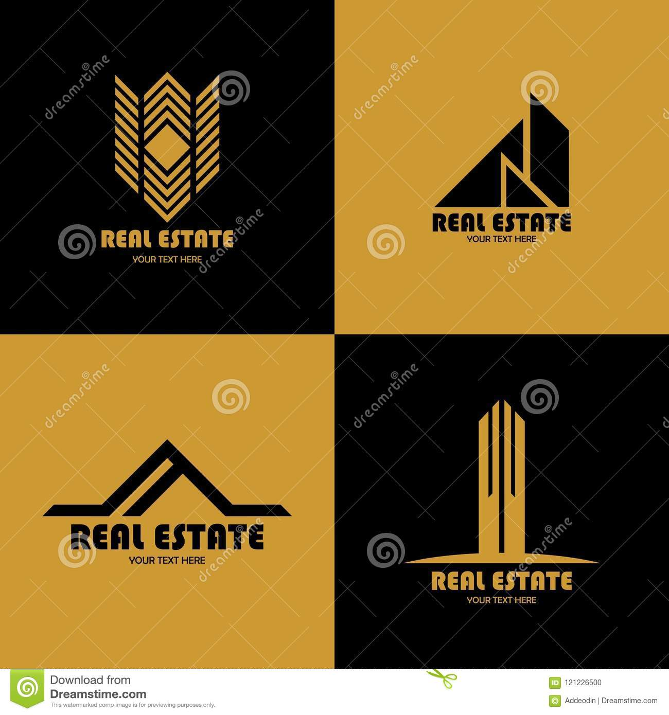 Vektor av den Real Estate logoen, elegant design