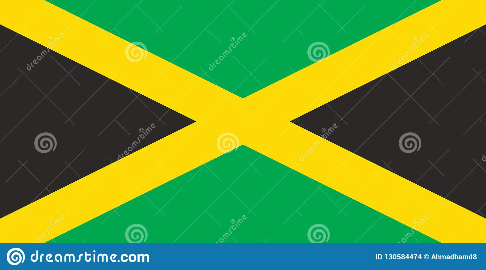Vektor-Bild von Jamaika-Flagge, Illustration