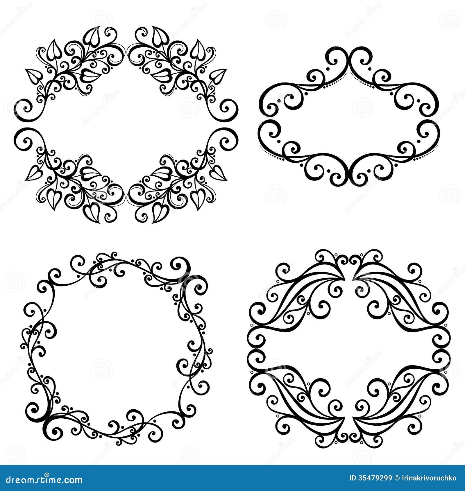 Vektor-dekorativer Ornamentrahmen Für Text Vektor Abbildung ...