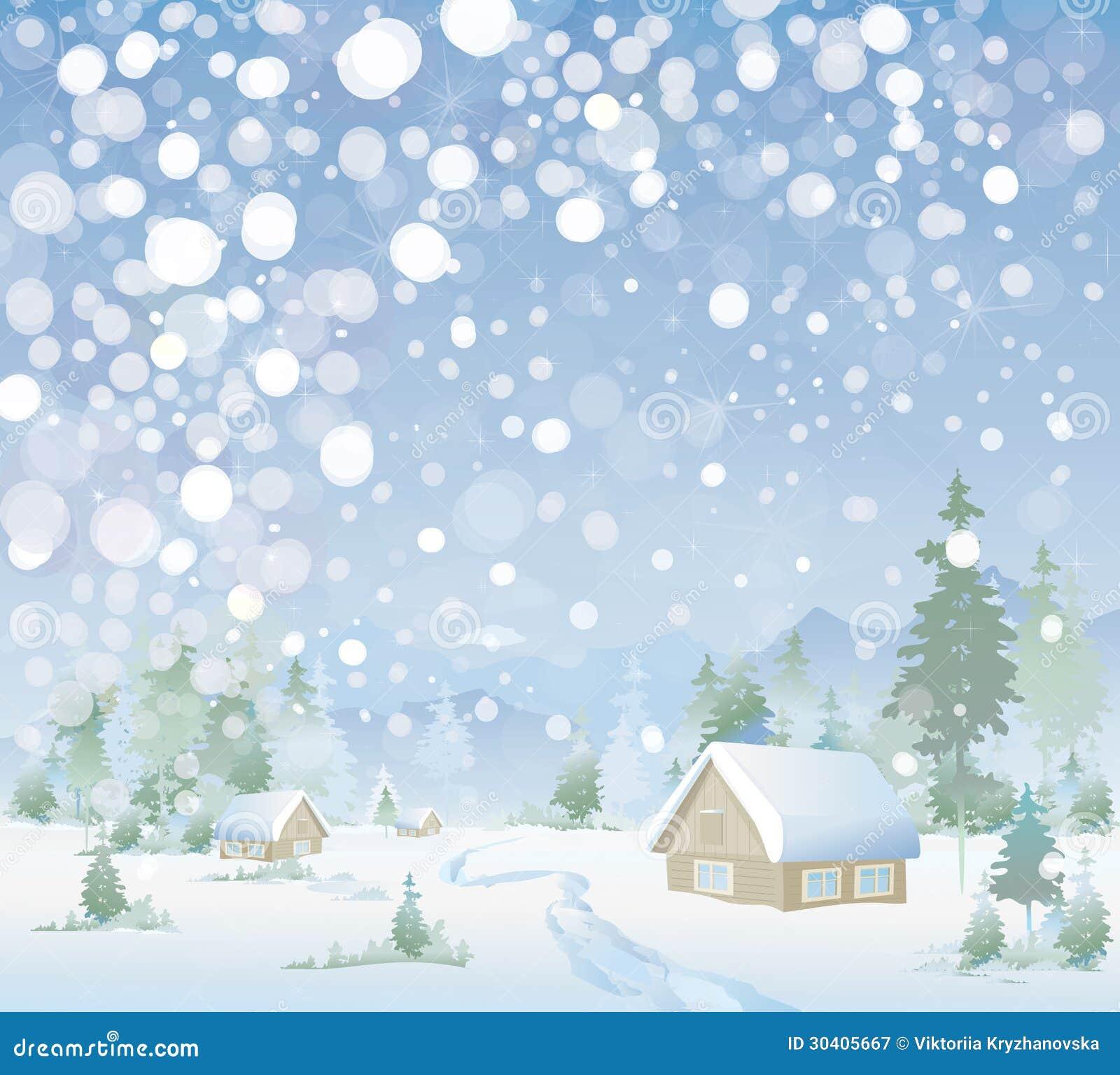 vektor der winterlandschaft frohe weihnachten vektor. Black Bedroom Furniture Sets. Home Design Ideas