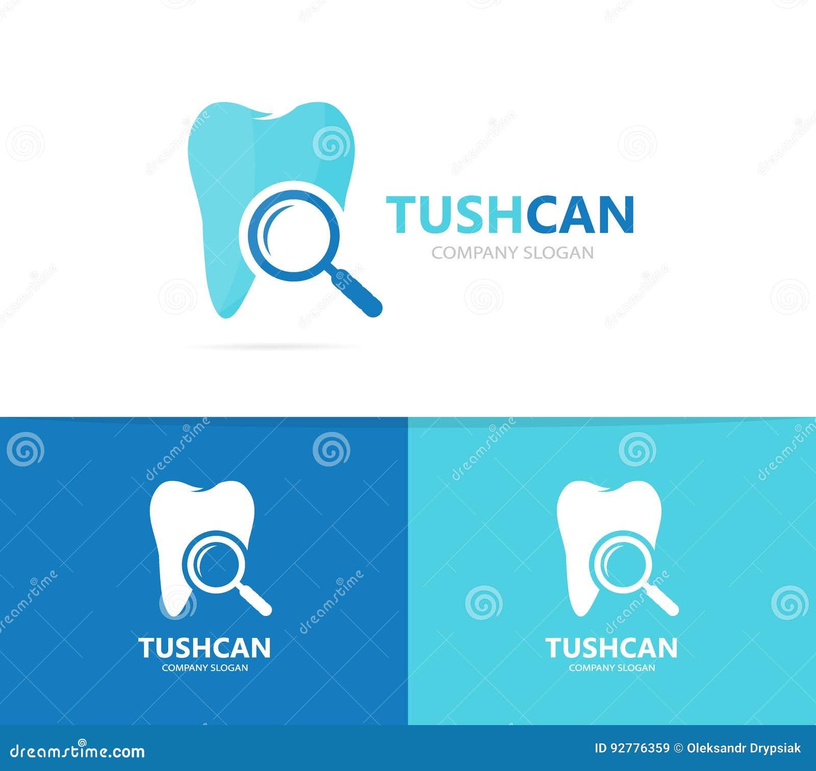 Vektor Der Zahn- Und Lupenlogokombination Zahnmedizinisches Und ...