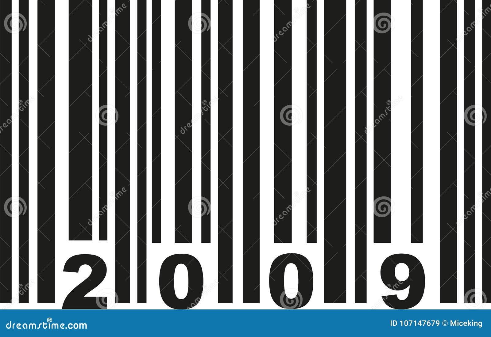 Vektor des Barcodes 2009