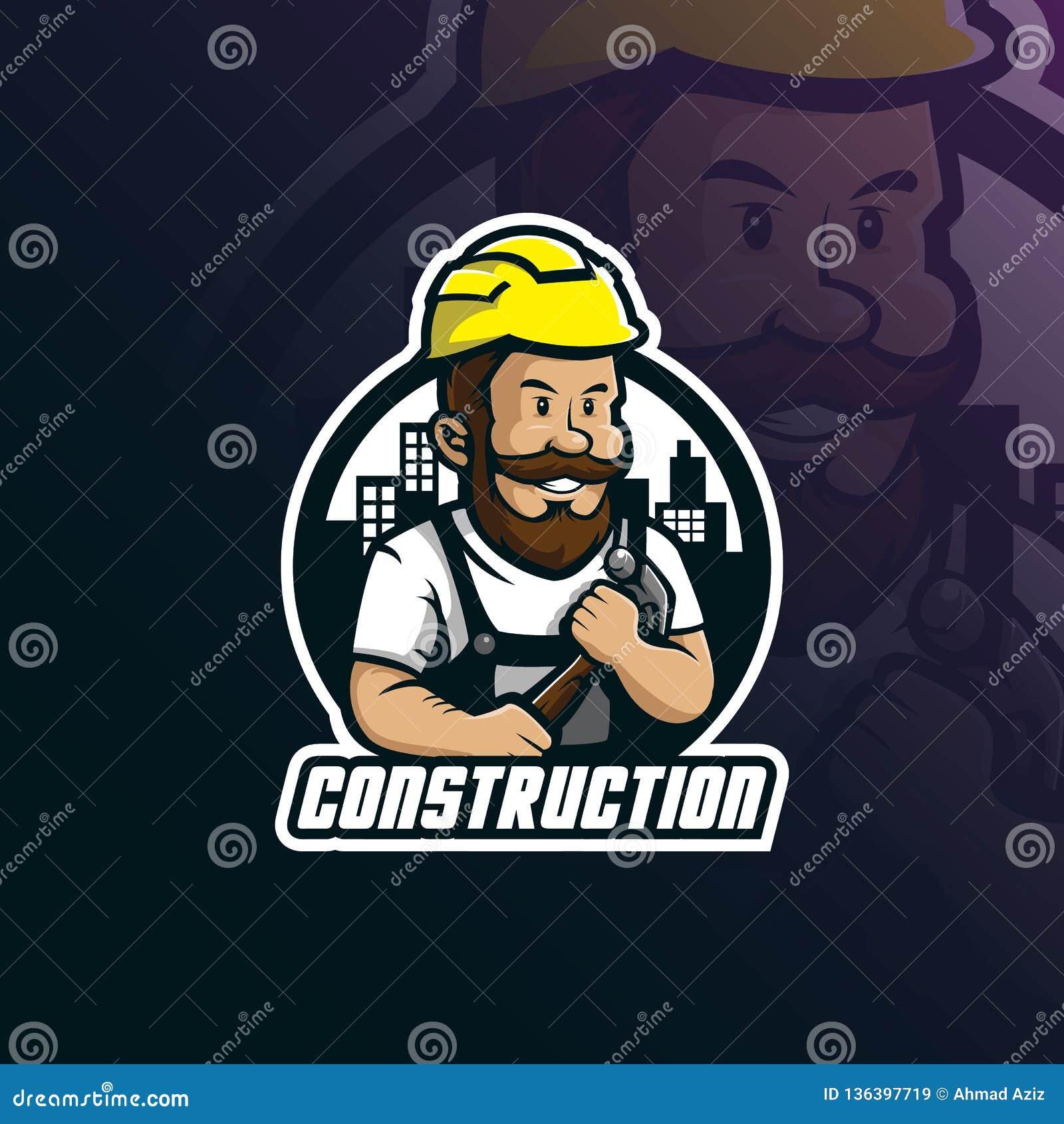 Kontruksi: Helmet Construction Worker Sports & Exercise Vector