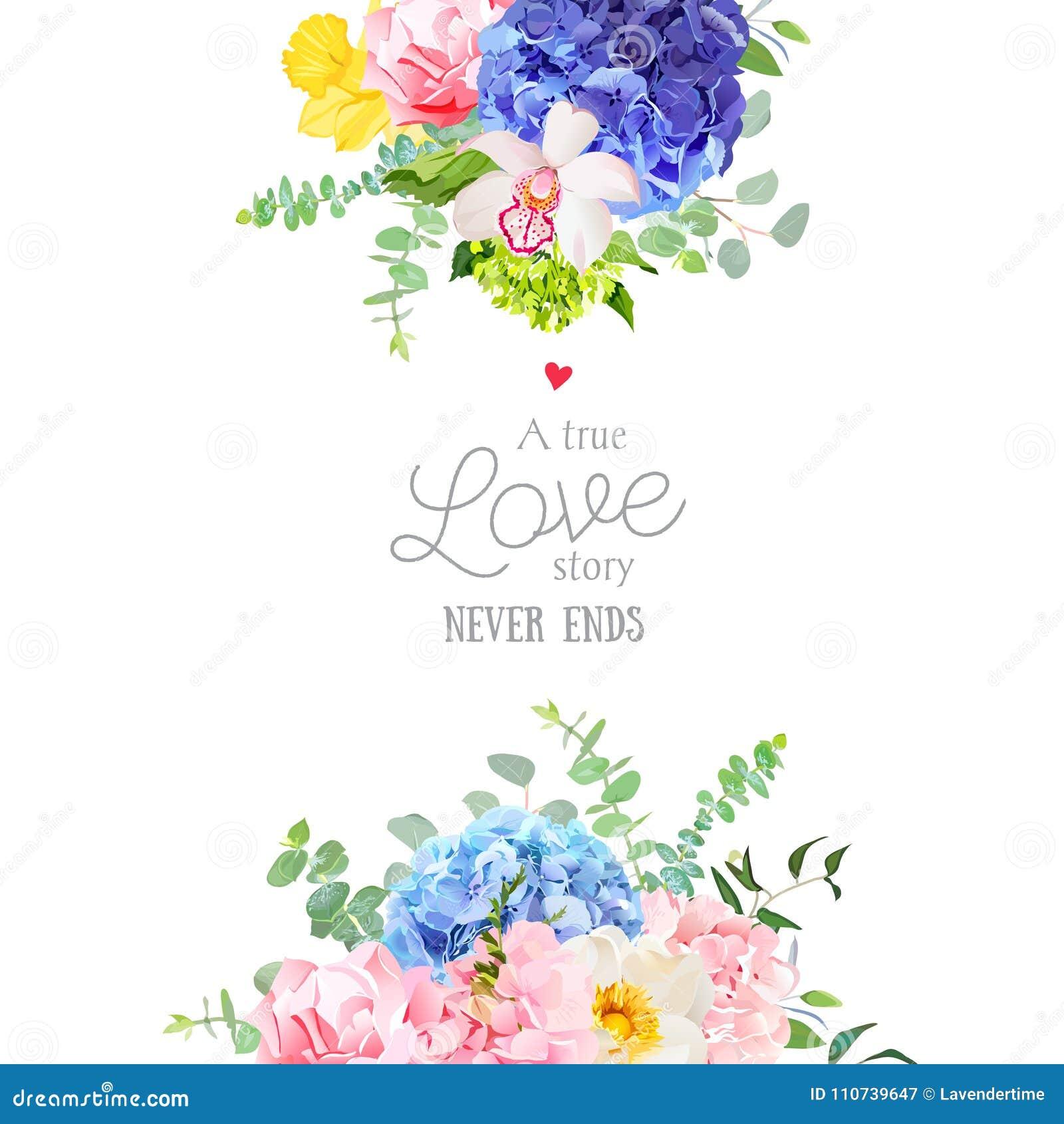 Vektor Designrahmen Der Empfindlichen Hochzeit Blumen Vektor