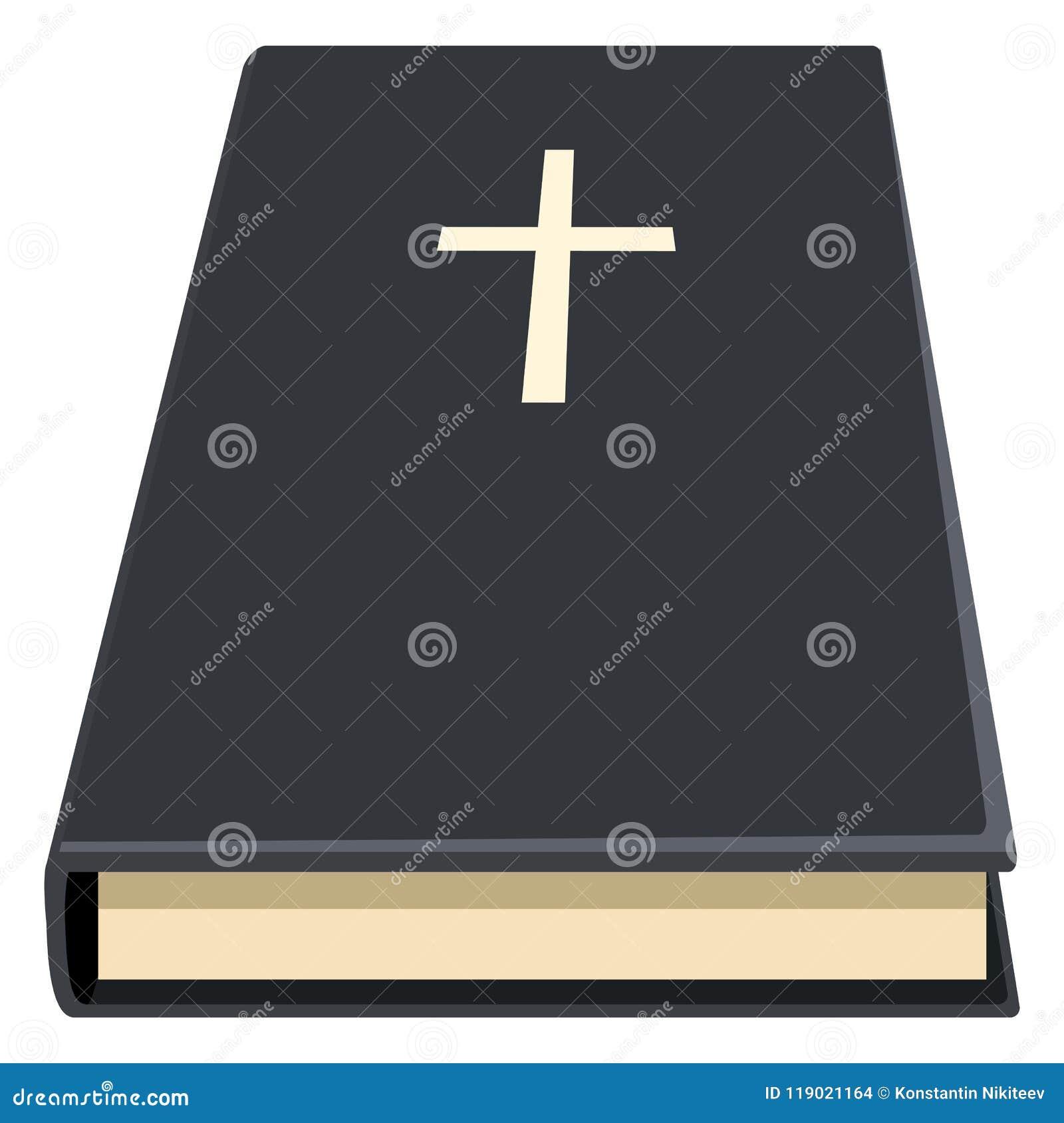 Vektor-einzelne heilige Bibel-Ikone Christian Book Pictogram