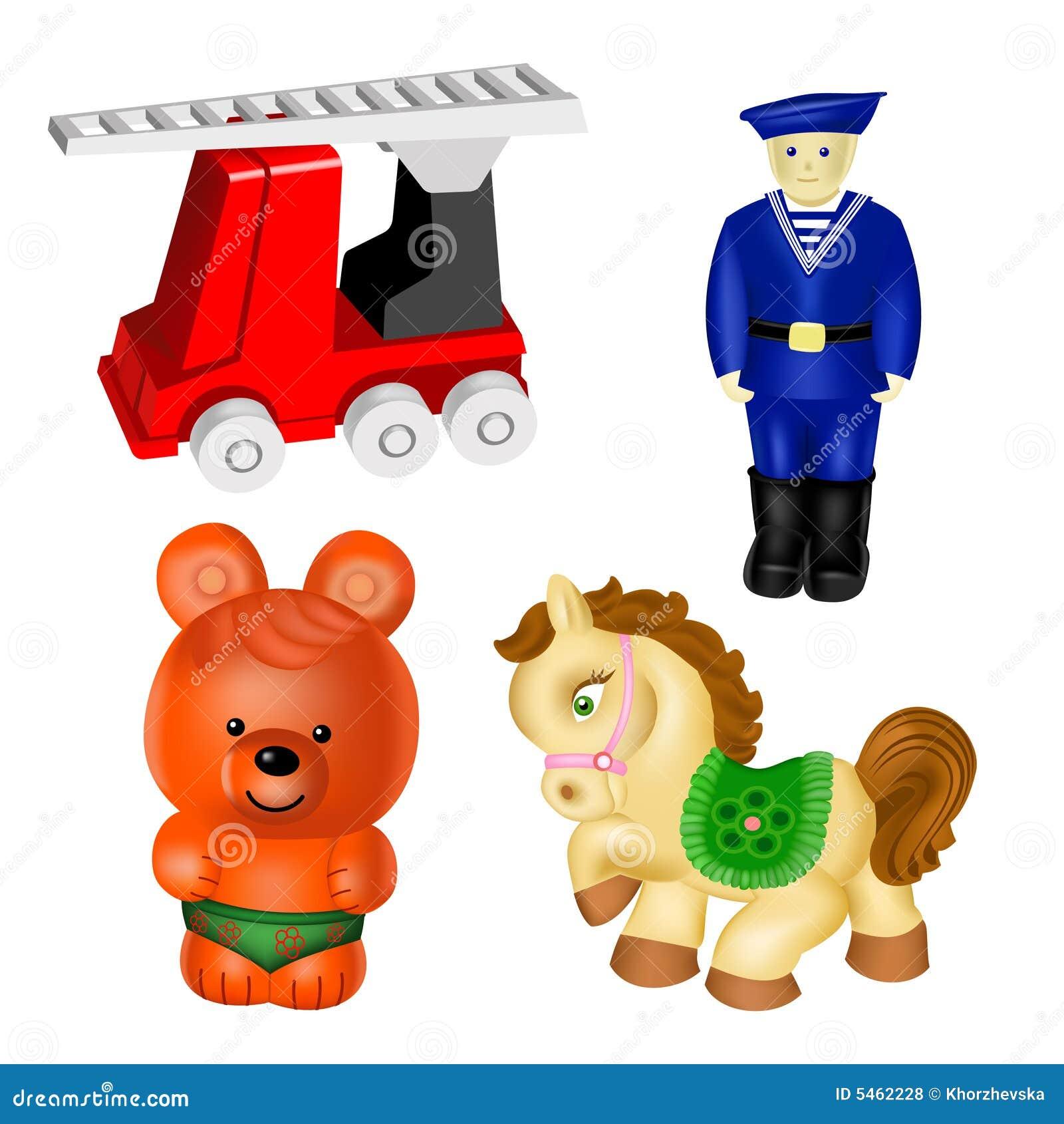 Vektor för 2 set toys