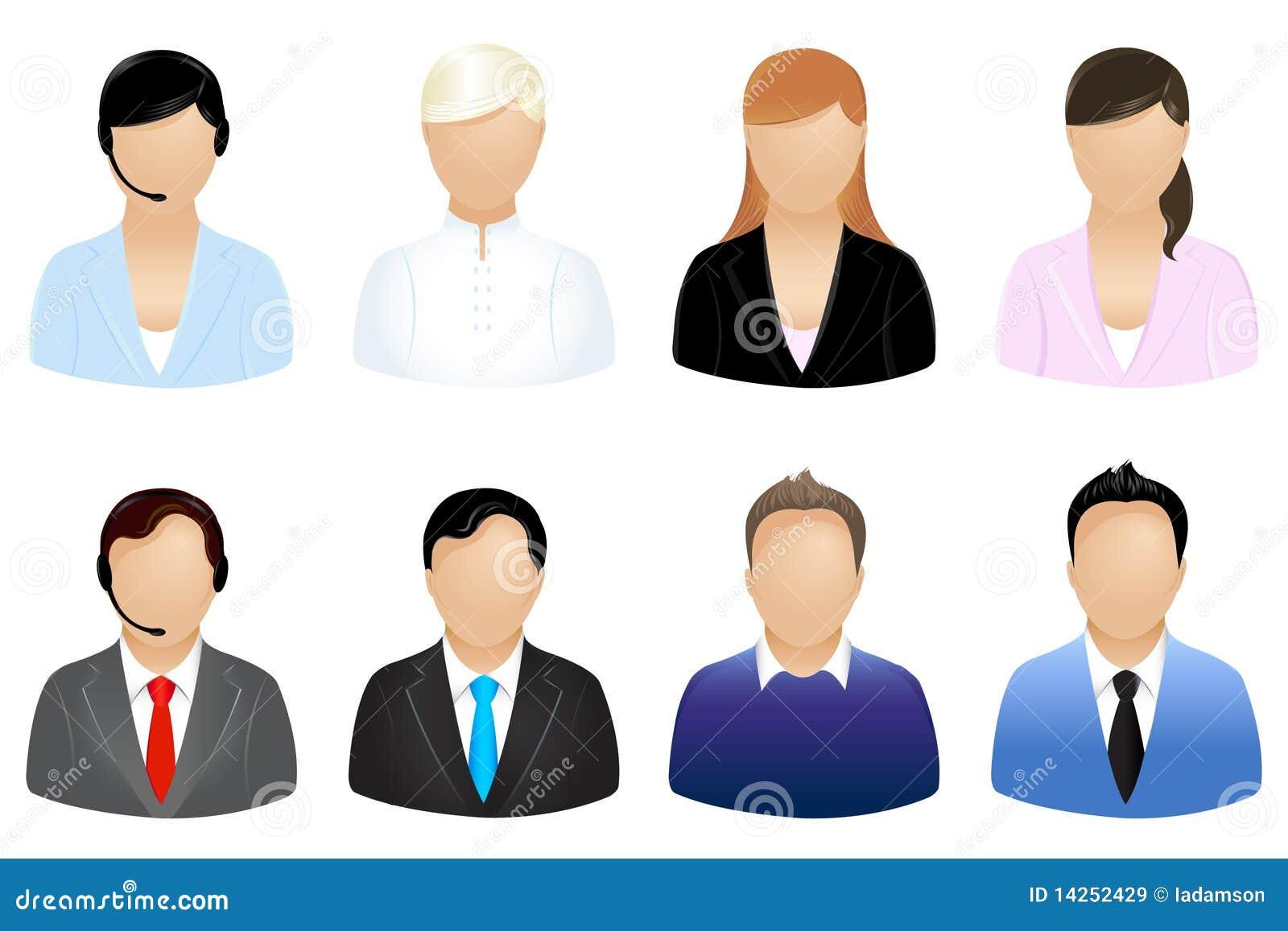 Vektor för affärssymbolsfolk
