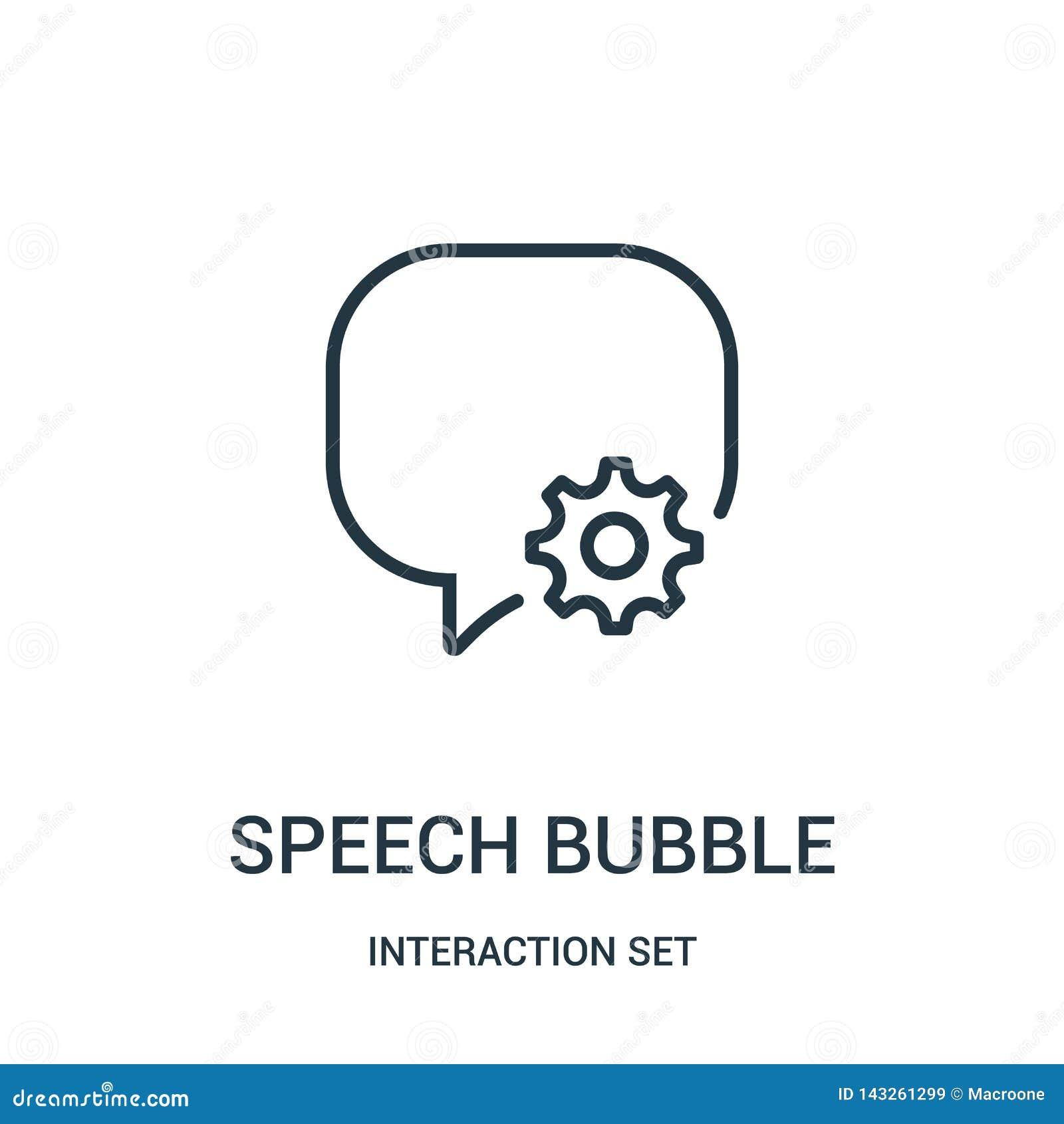 Vektor för anförandebubblasymbol från växelverkanuppsättningsamling Tunn linje illustration för vektor för symbol för anförandebu