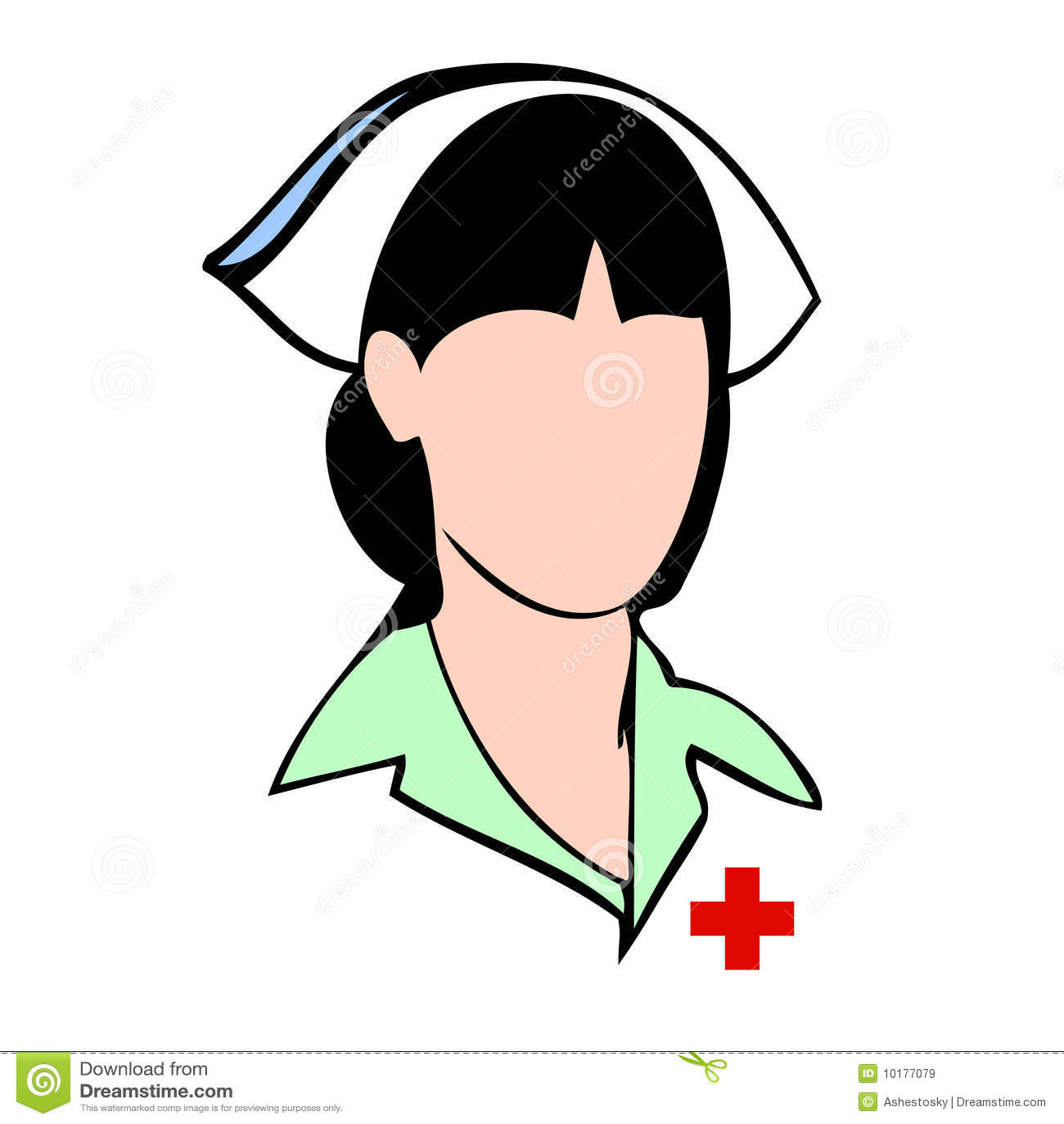 Vektor för avatarframsidasjuksköterska