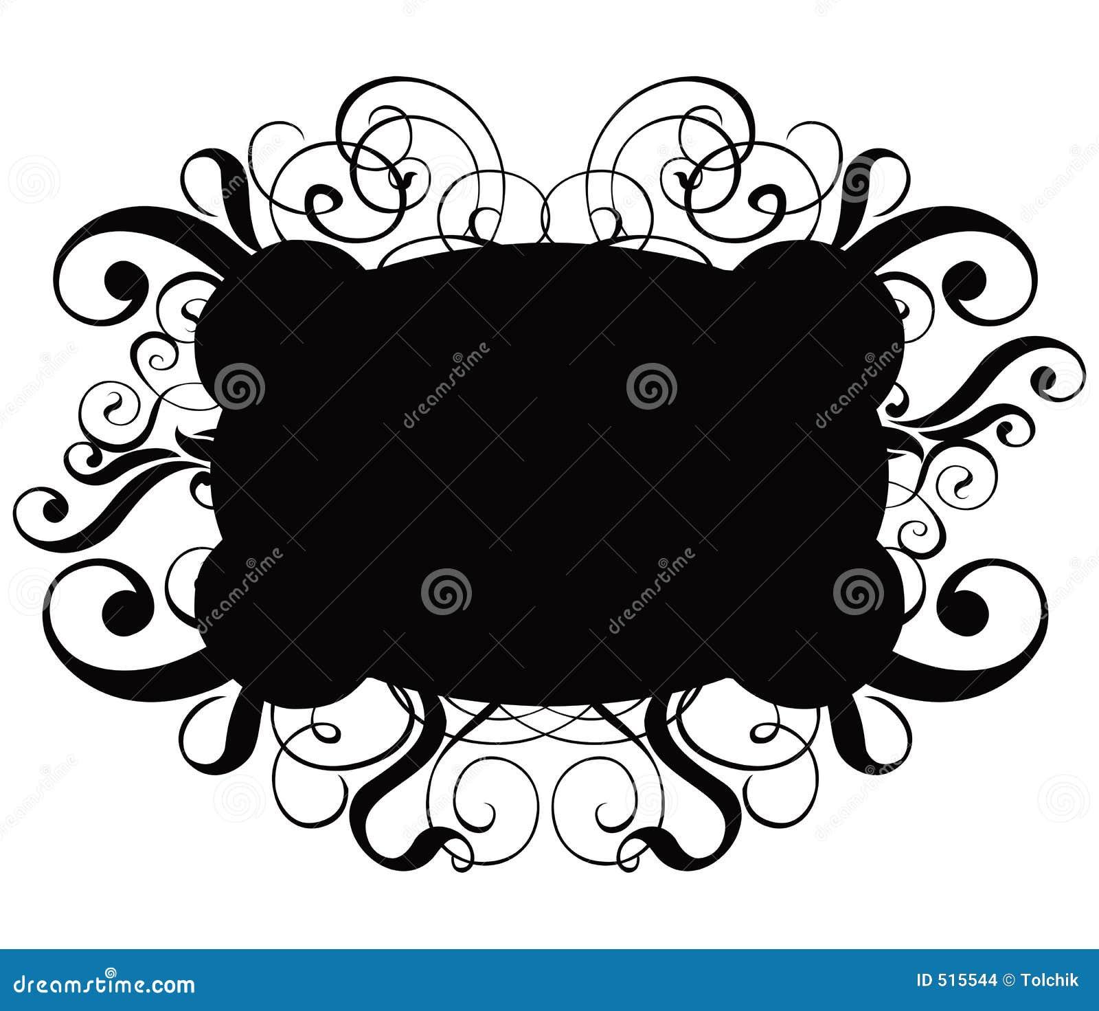 Vektor för cartouchedekorscroll