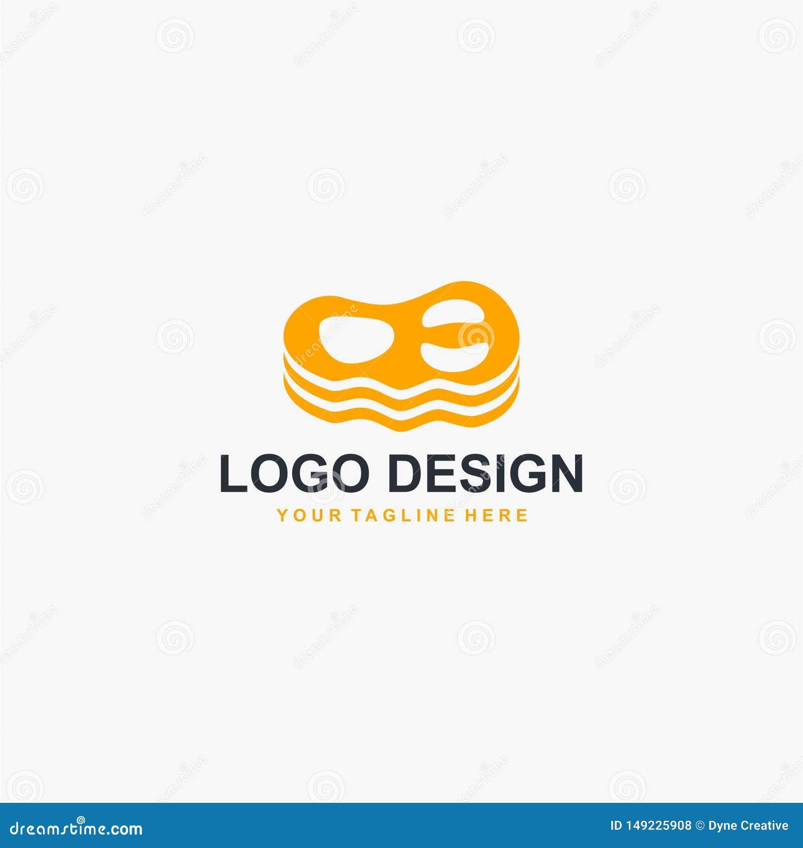 Vektor för design för biffköttlogo Matlogodesign för restaurangaffär