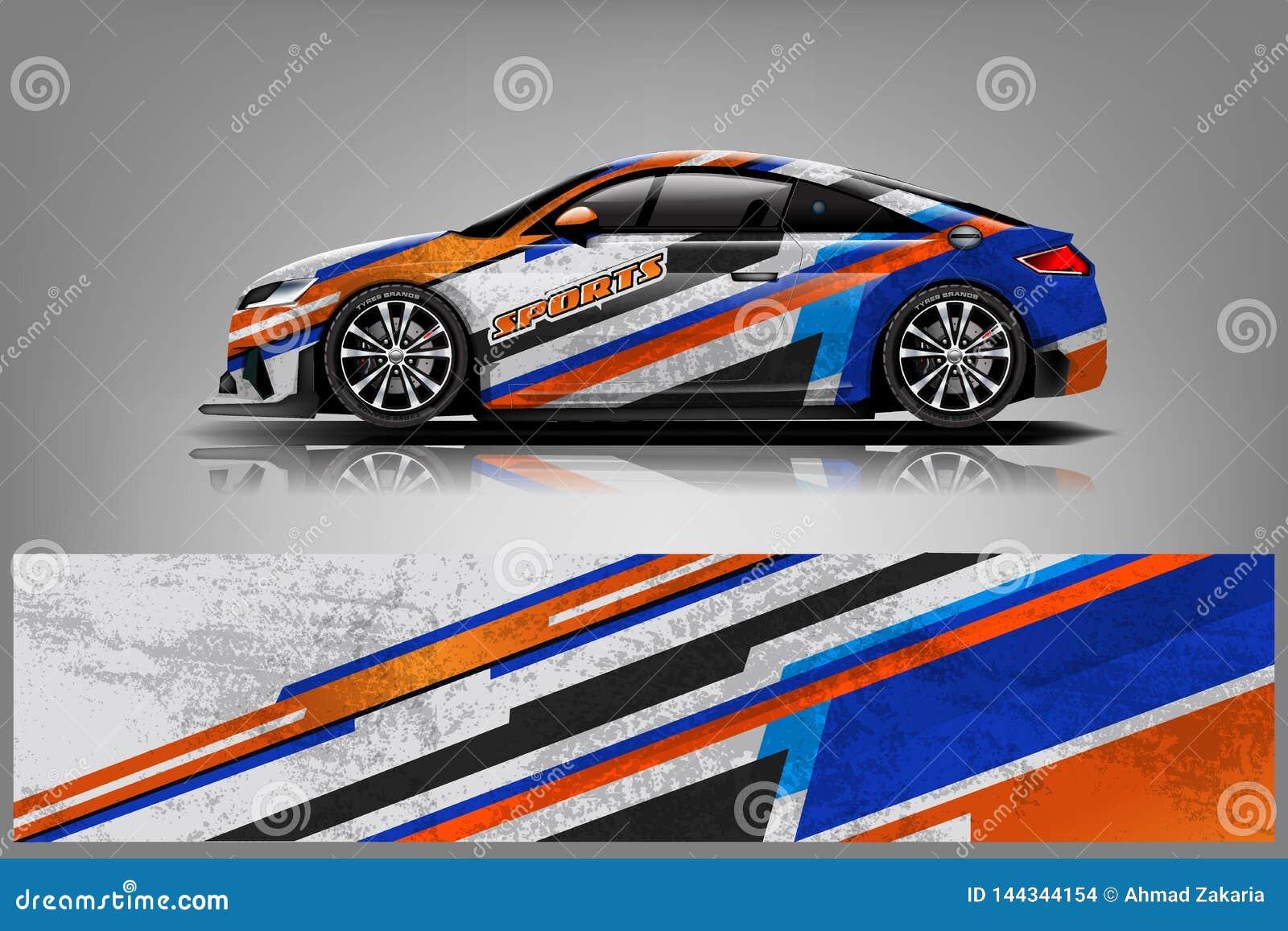 Vektor för design för bildekalsjal Det grafiska abstrakta bandet som springer bakgrundssatsdesigner för medlet, racerbil, samlar,