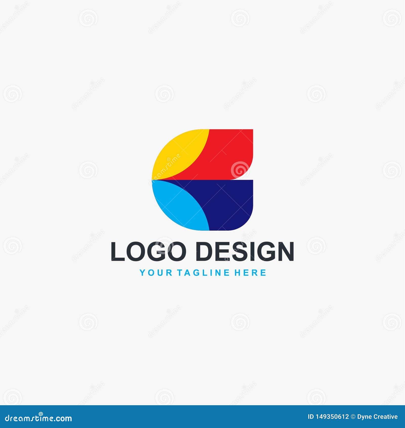 Vektor för design för logo för fulla färger för bokstav C