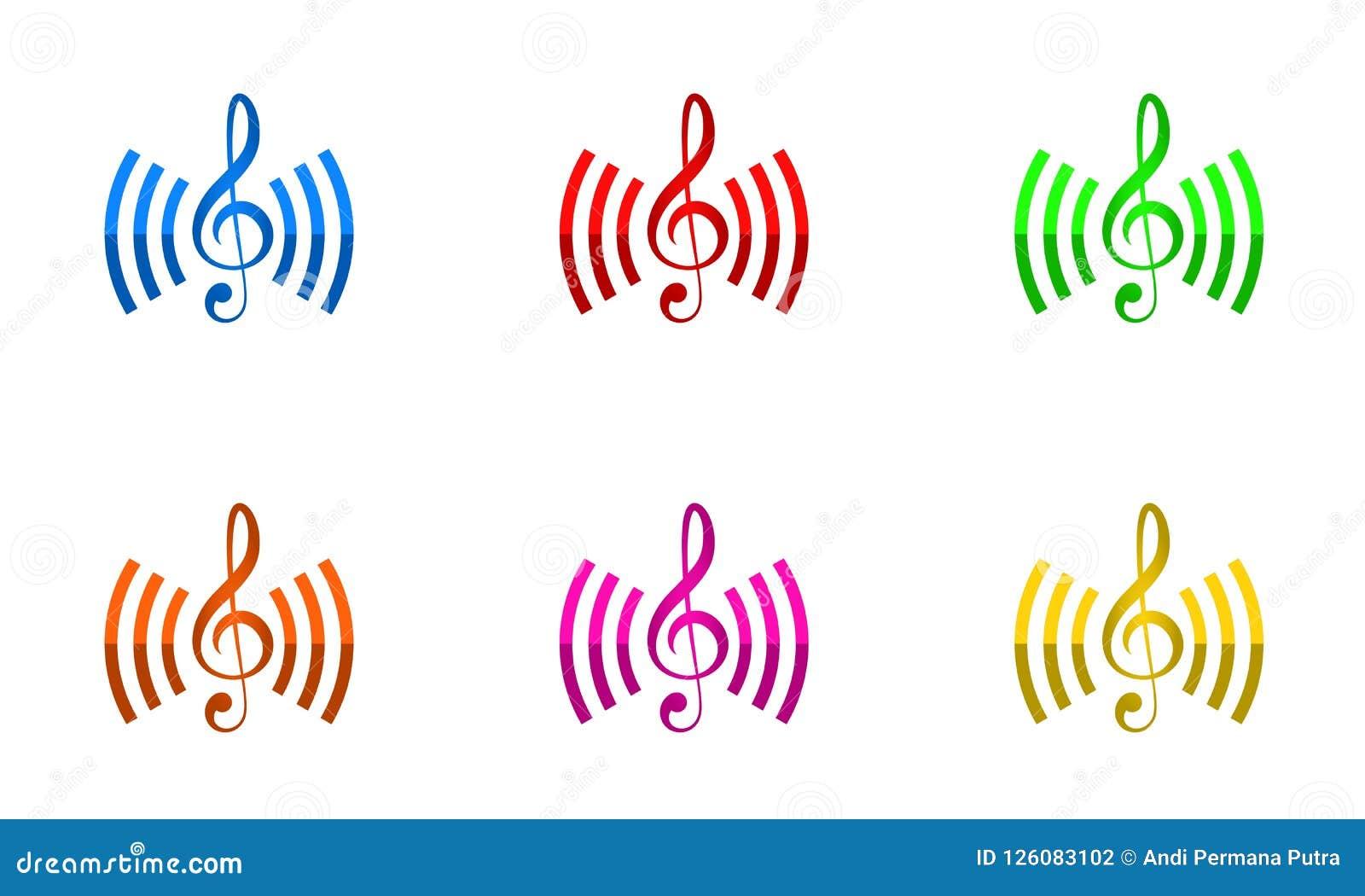 Vektor för design för musikanslutningslogo