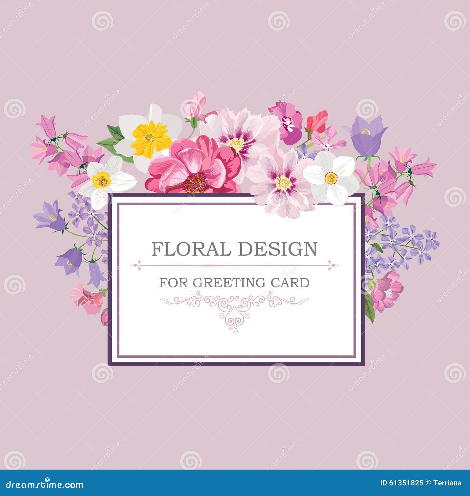Vektor för detaljerad teckning för bakgrund blom- Räkning för blommabuketttappning Krusidullkort w