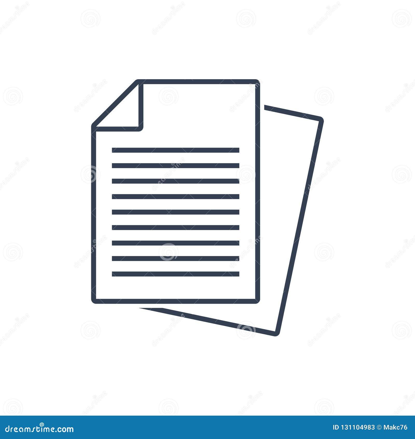 Vektor för dokumentsymbol