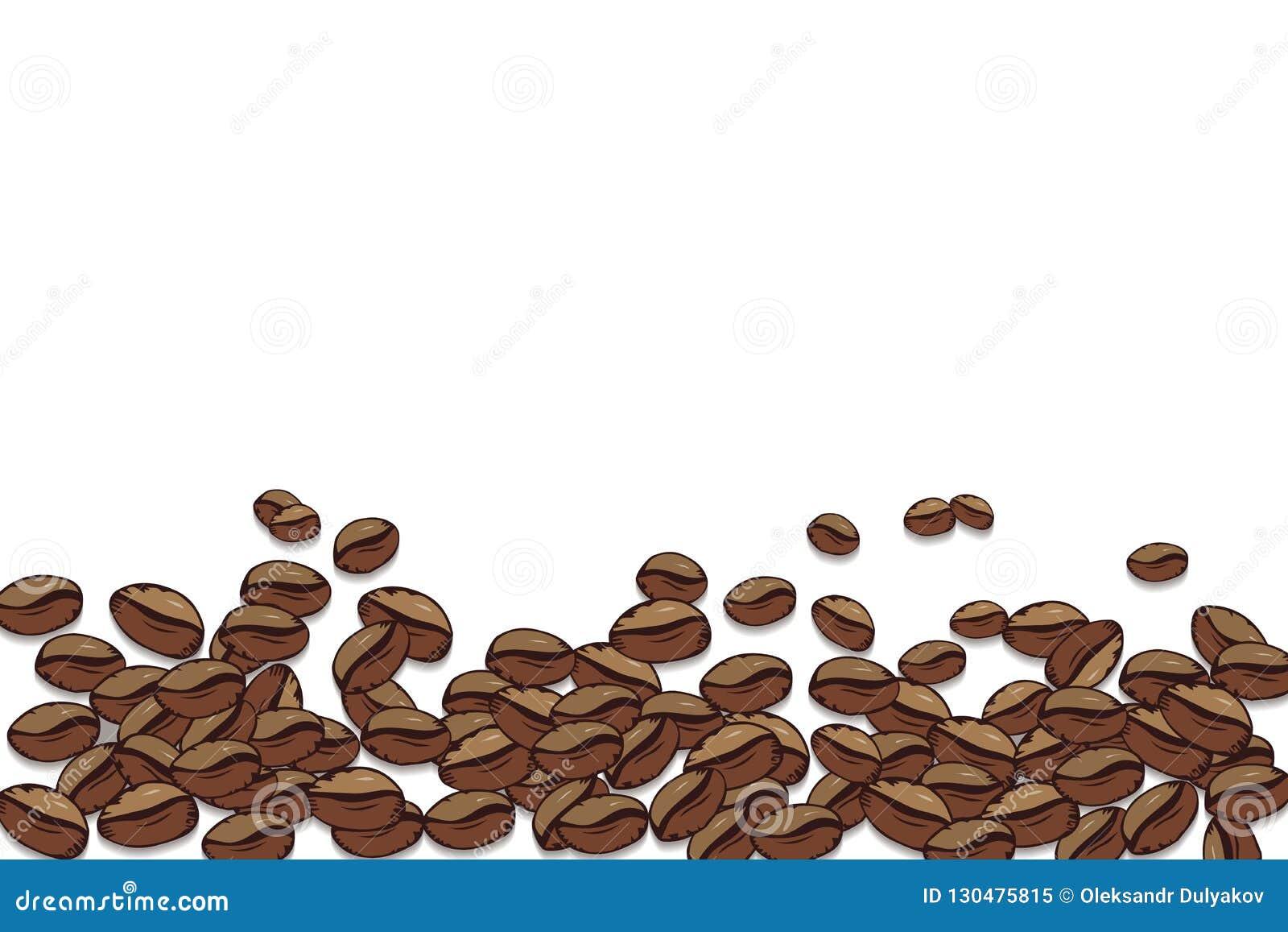Vektor för element för bakgrundskaffedesign Dekorativ fyrkantig bakgrund med stället för din text Ramkaffebönor på en vit bakgrun