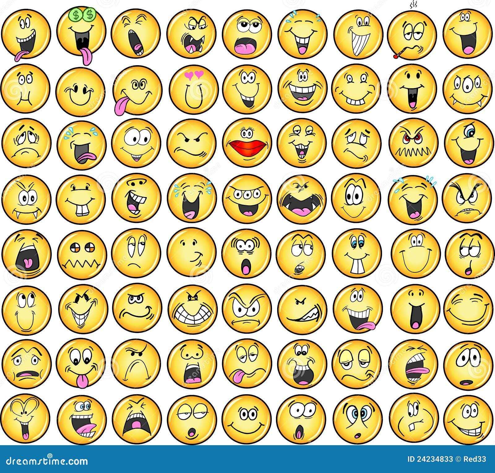Vektor för emoticonssinnesrörelsesymboler