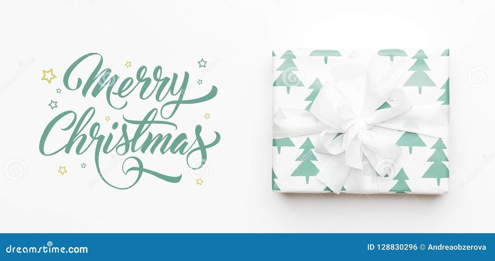 Vektor för illustration för banerjul eps10 Härlig julgåva som isoleras på vit bakgrund Turkos färgad slågen in xmas-ask Rött boxa