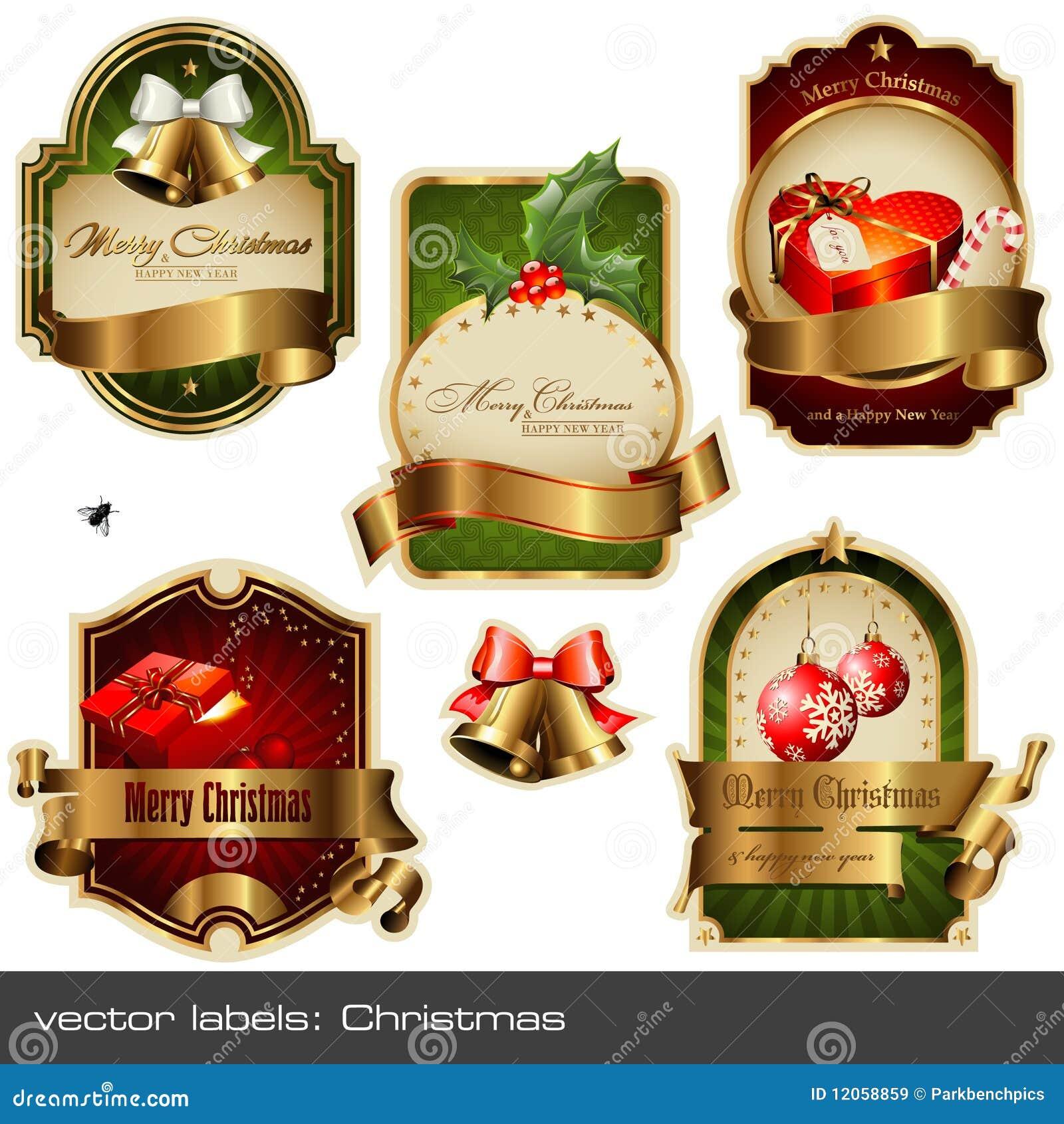Vektor för juletikettset