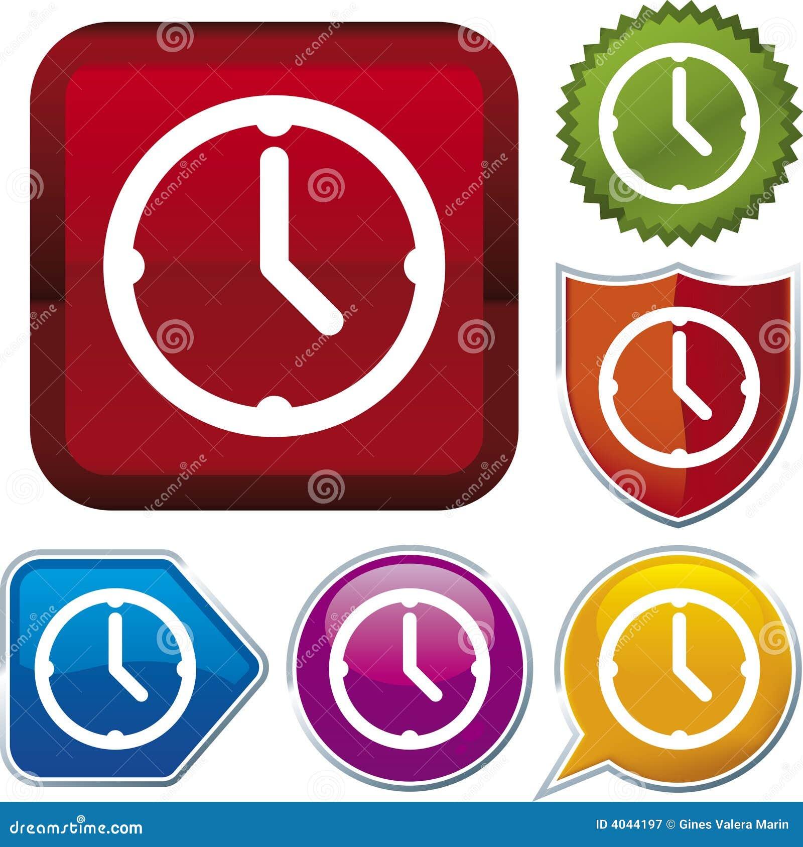 Vektor för klockasymbolsserie