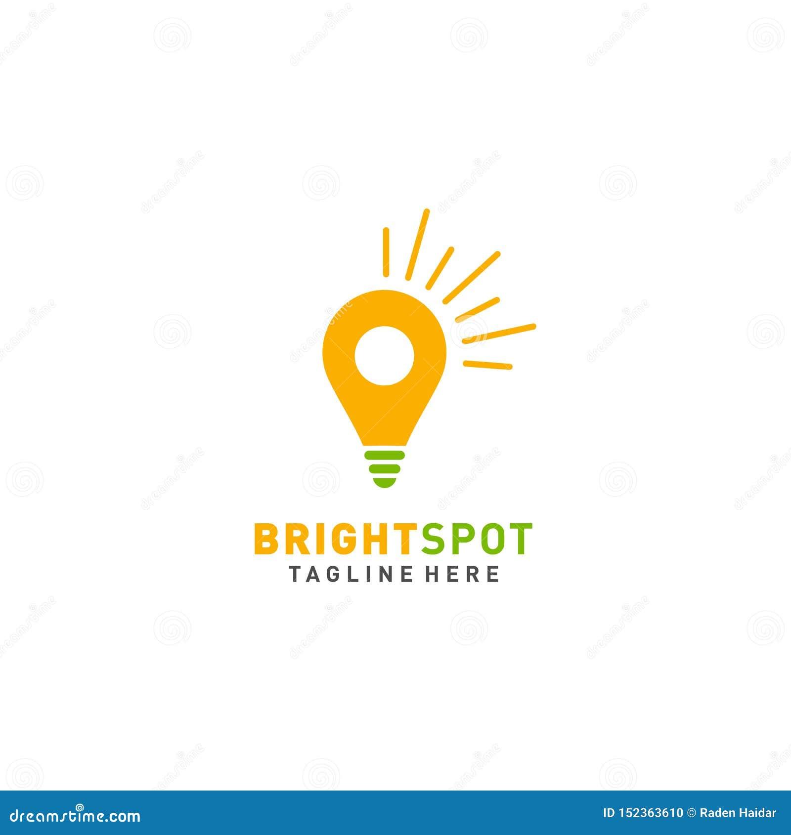 Vektor för ljuspunktlogodesign