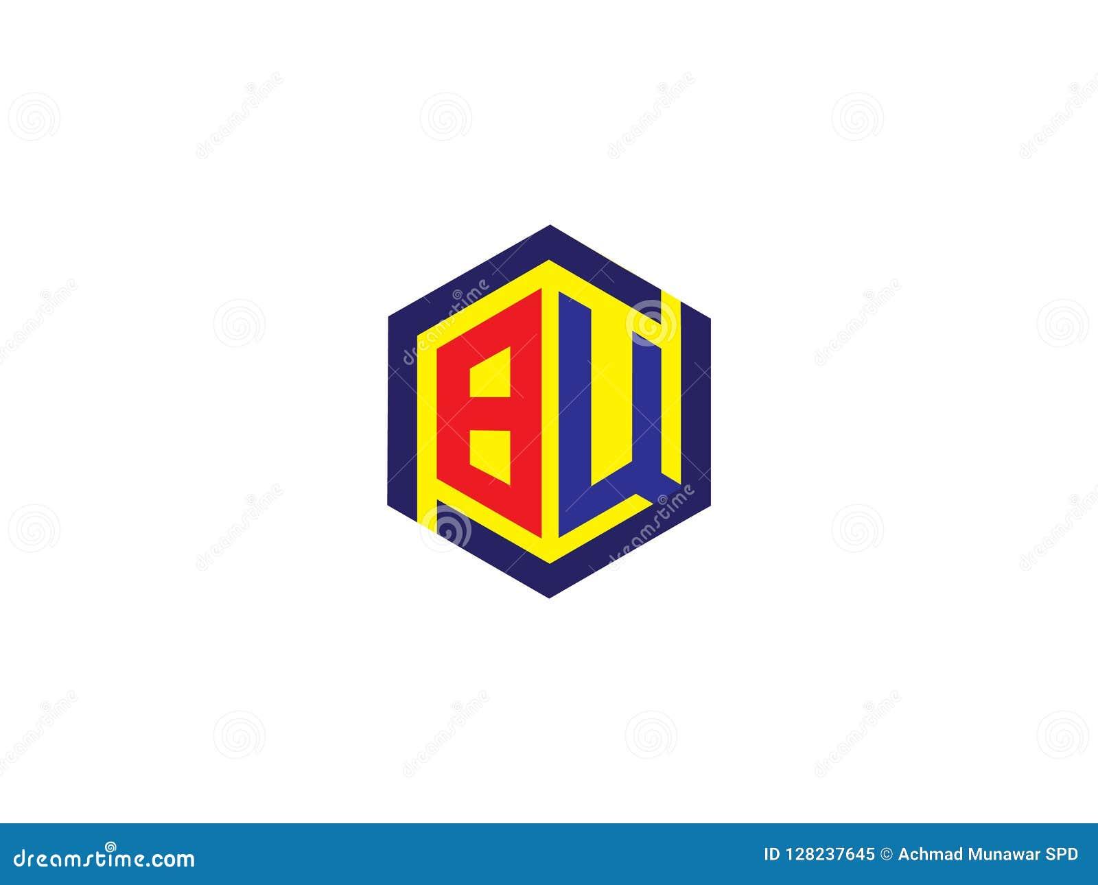 Vektor för logo för tecken för gemenskap för bokstavsBW sexhörning Enhetsymbol Företagspersonal Offentlig organisation Bra förhål