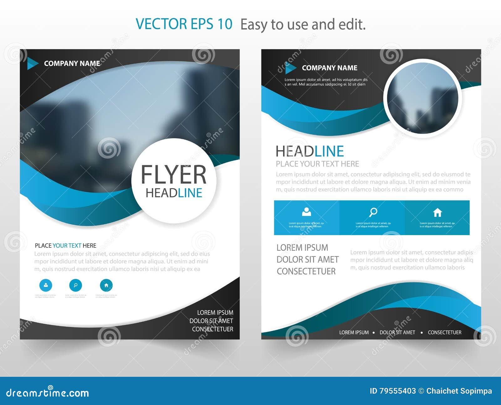 Vektor för mall för design för Blue Circle årsrapportbroschyr Affisch för tidskrift för affärsreklamblad infographic abstrakt ori