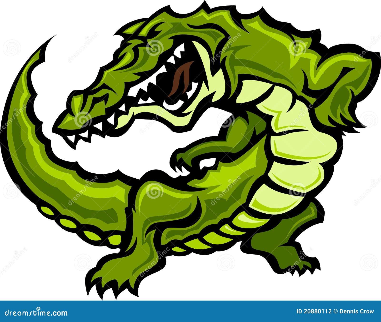 Vektor för maskot för alligatorgatorillustration