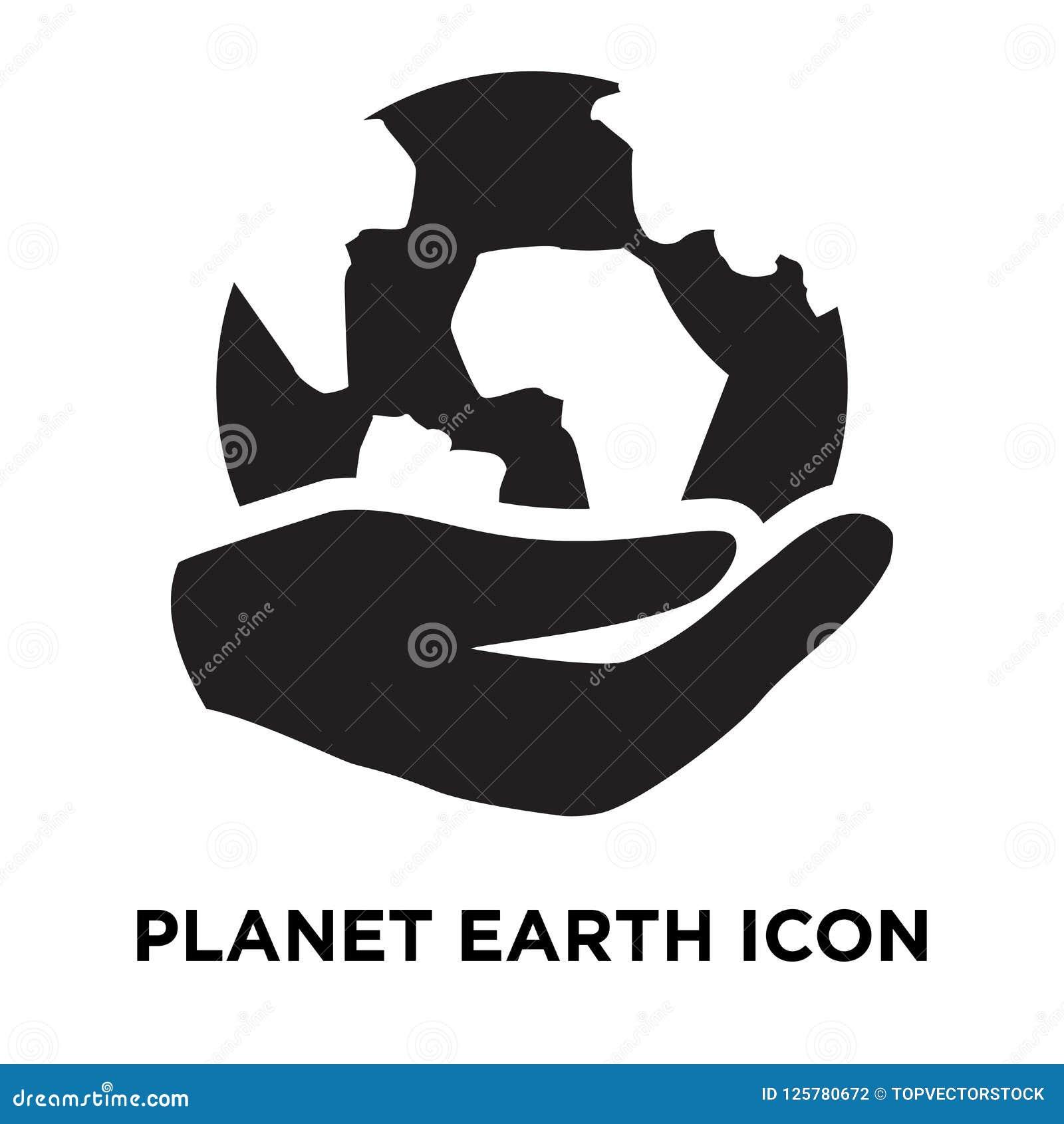Vektor för planetjordsymbol som isoleras på vit bakgrund, conc logo