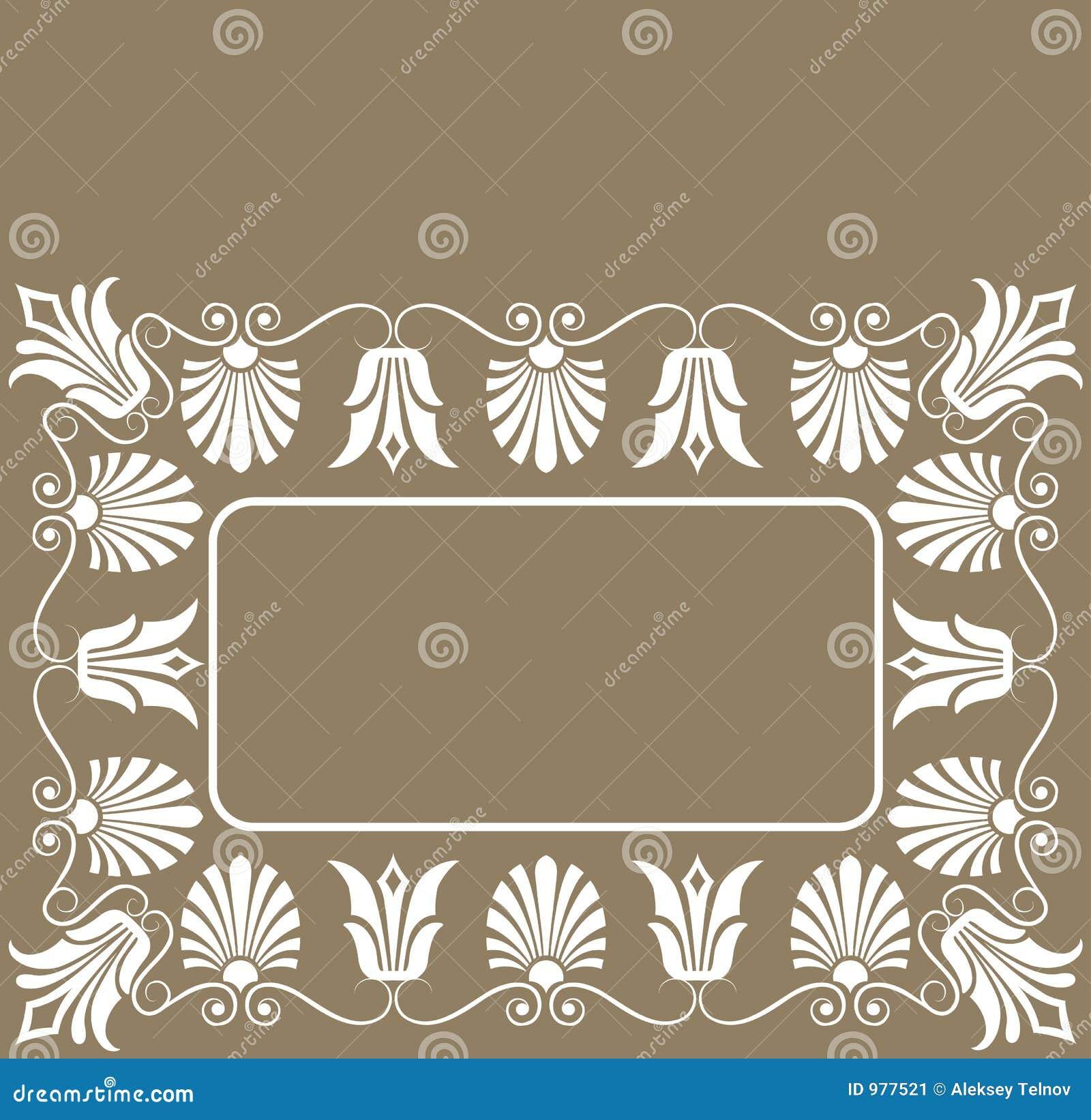 Vektor för ram för blomma för bakgrundsdesignelement