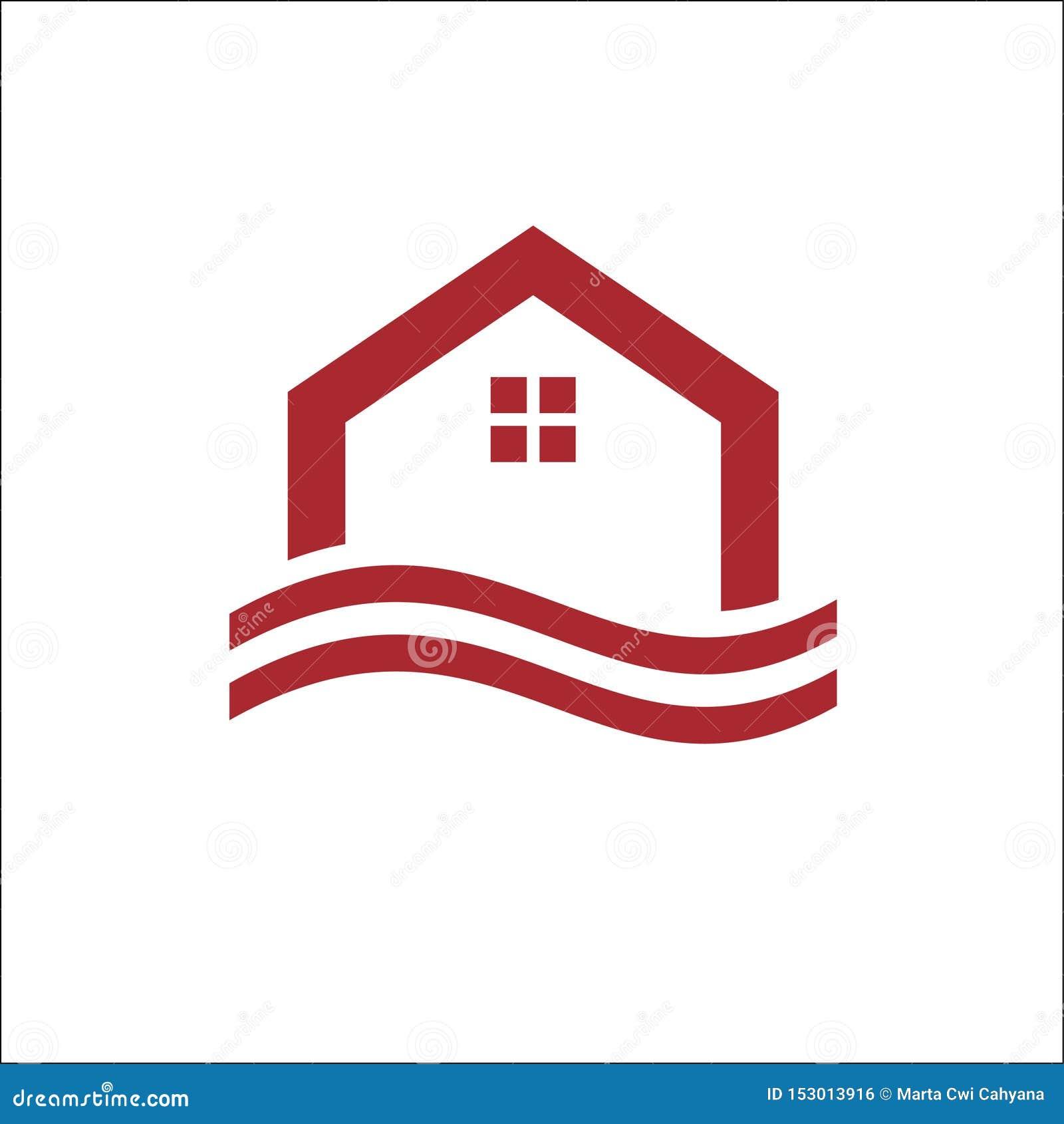 Vektor för Real Estate, egenskaps- och konstruktionslogodesign