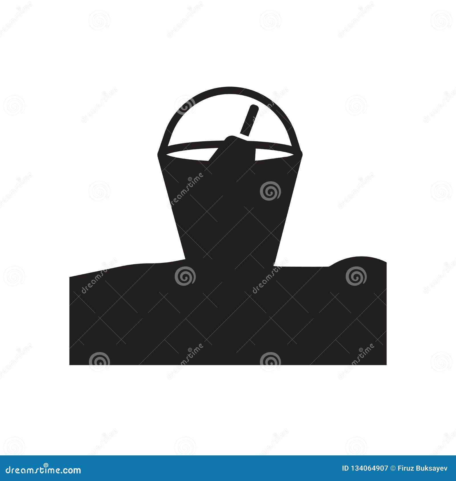 Vektor för sandhinksymbol som isoleras på vit bakgrund, sandhinktecken, semestersymboler