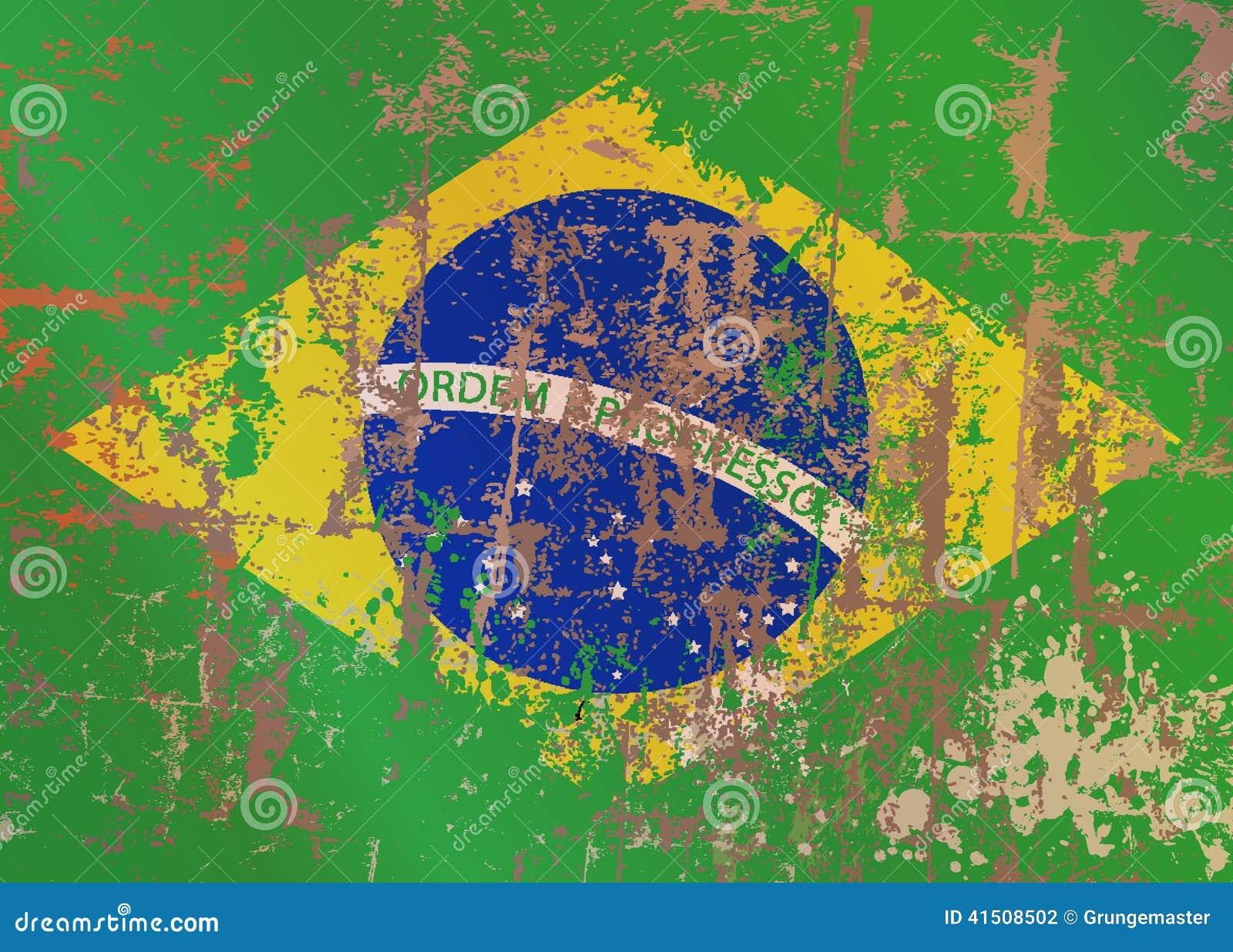 Vektor för stil för tillgänglig brazil flagga glass