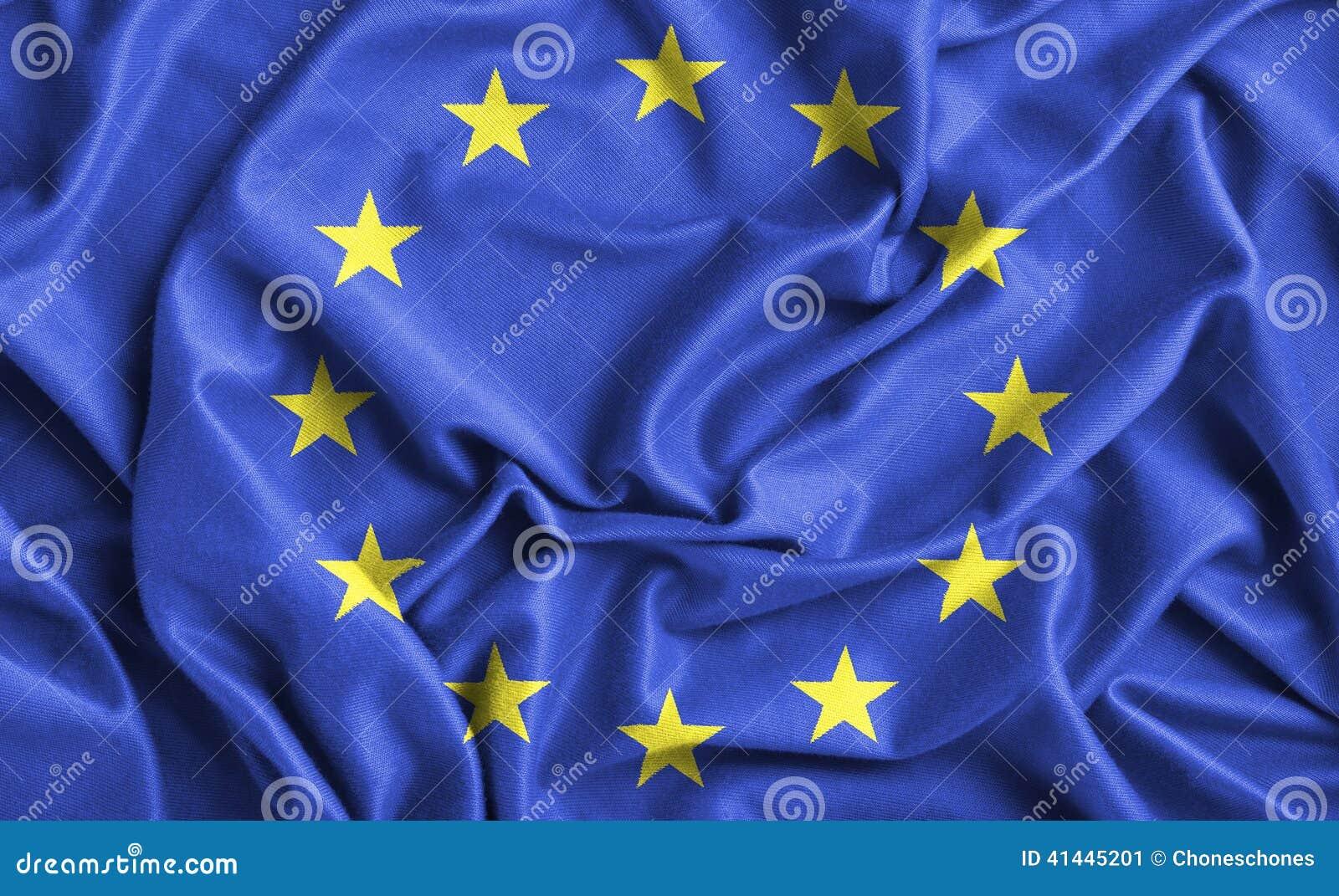 Vektor för stil för tillgänglig Europa flagga glass