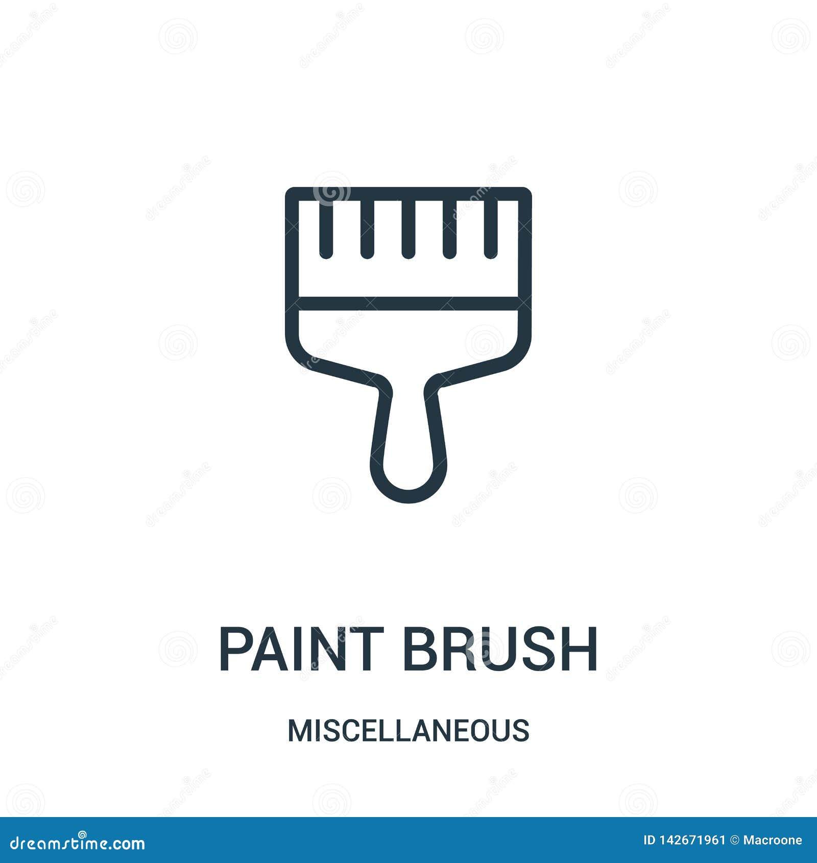 Vektor för symbol för målarfärgborste från diverse samling Tunn linje illustration för vektor för symbol för översikt för målarfä
