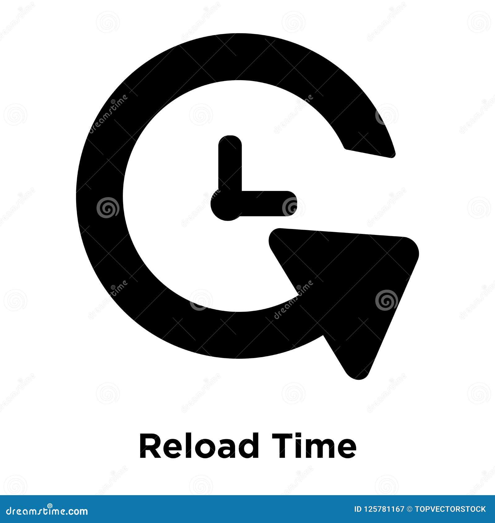 Vektor för tillbakaläggandeTid symbol som isoleras på vit bakgrund, logoconce
