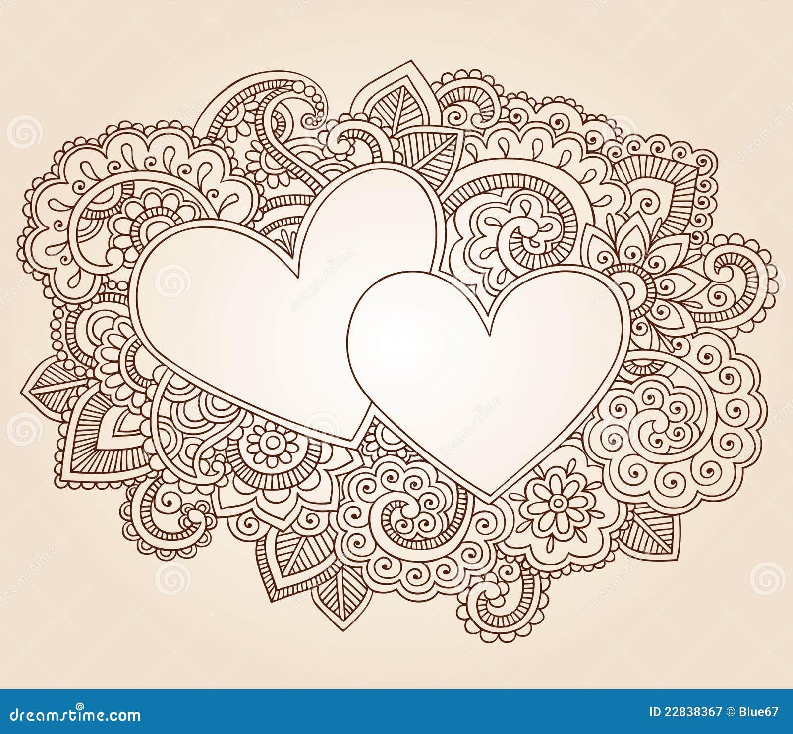Vektor för valentin för daghjärtahenna s