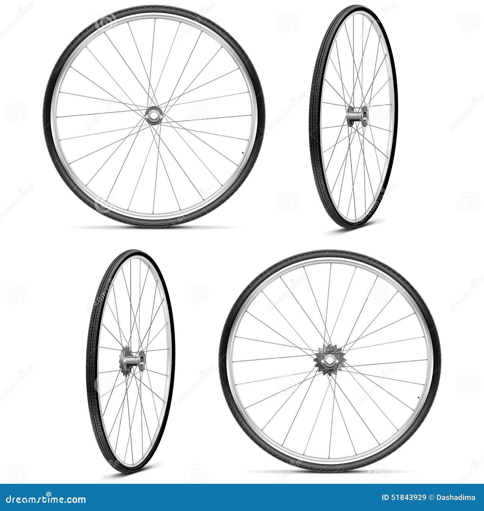 Vektor-Fahrradfelgen