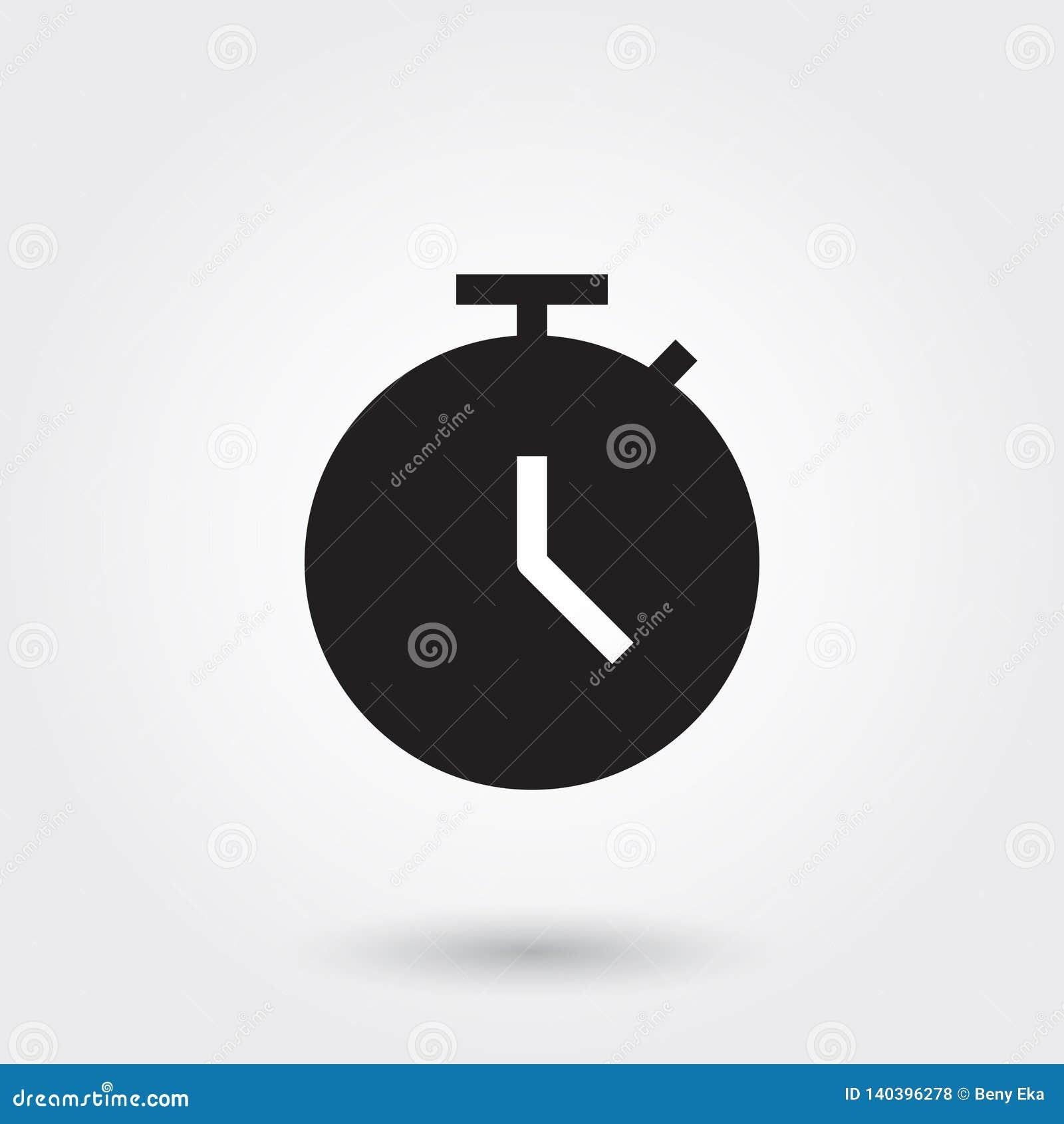 Vektor, Frist, Zeit, Uhr, Uhr, Glyph-Ikone perfekt für Website, mobile Apps, Darstellung