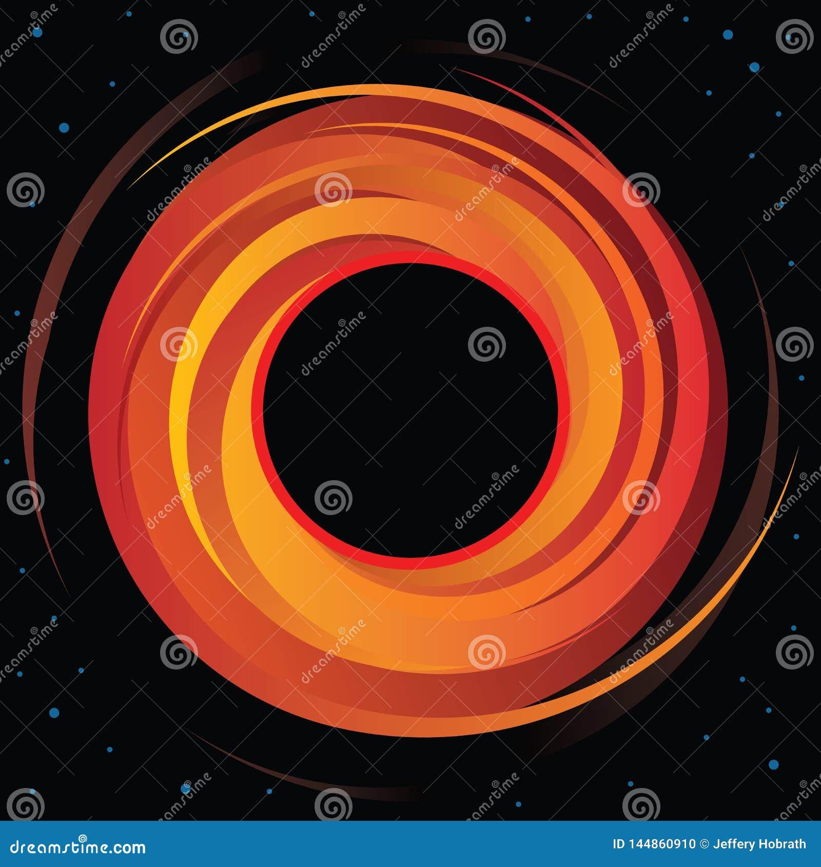 Vektor-Grafik des supermassiven Schwarzen Loches