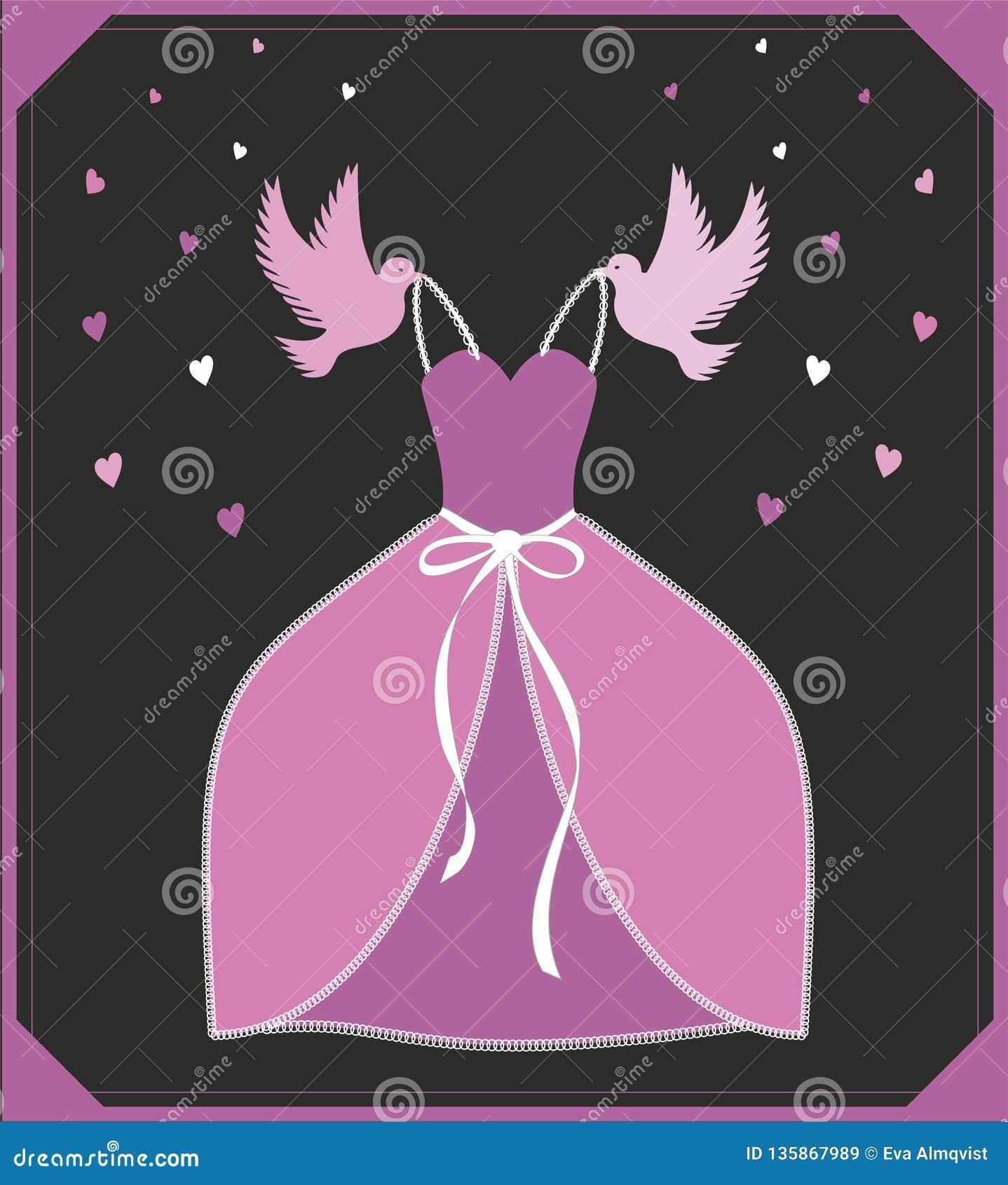 Cinderella Dresses Stock Vector Illustration Of Isolated: Vector Illustration Pink Dress. Sign Or Poster For Shop