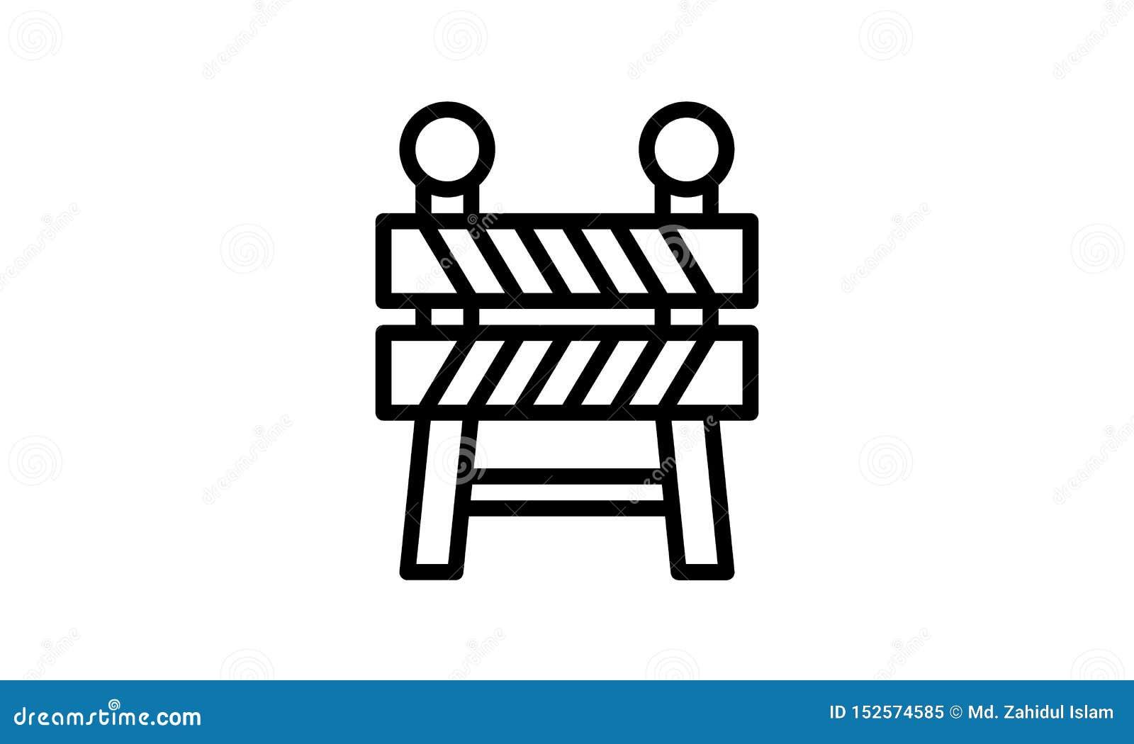 Vektor-Illustrationssymbol der Sperrenikone flaches