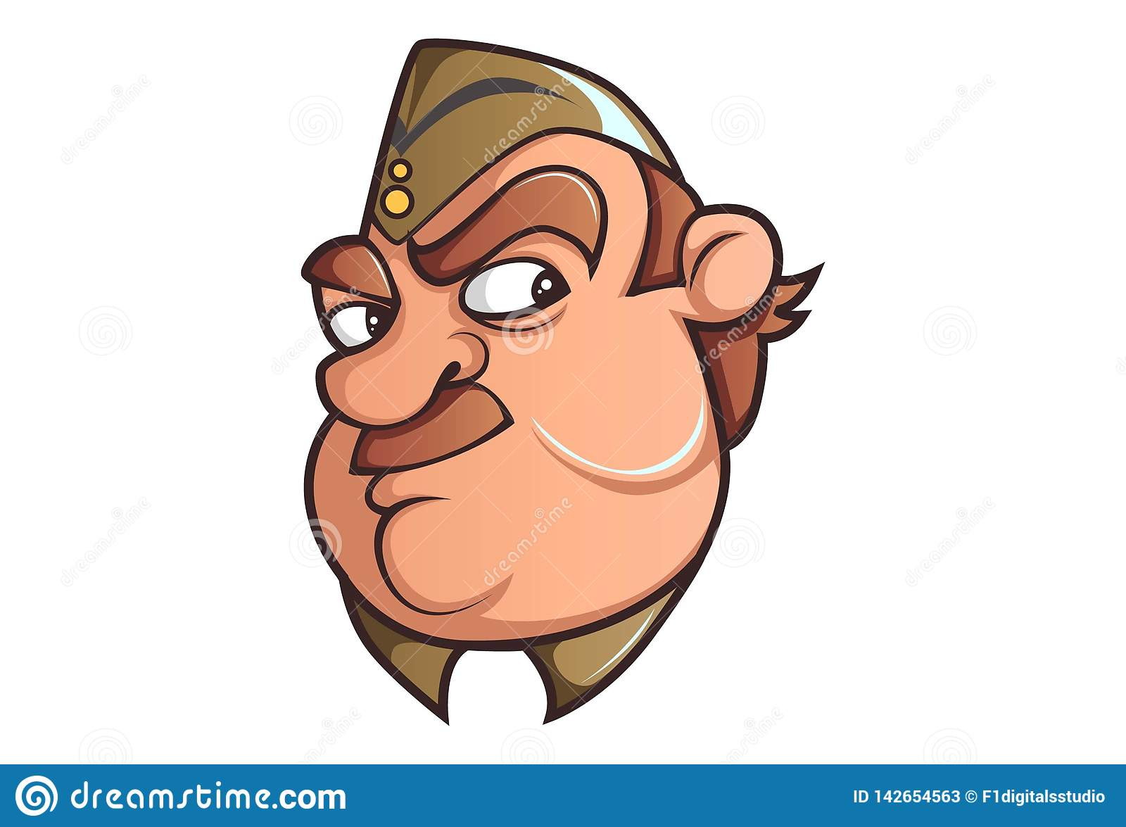 Vektor-Karikatur-Illustration des netten Polizisten
