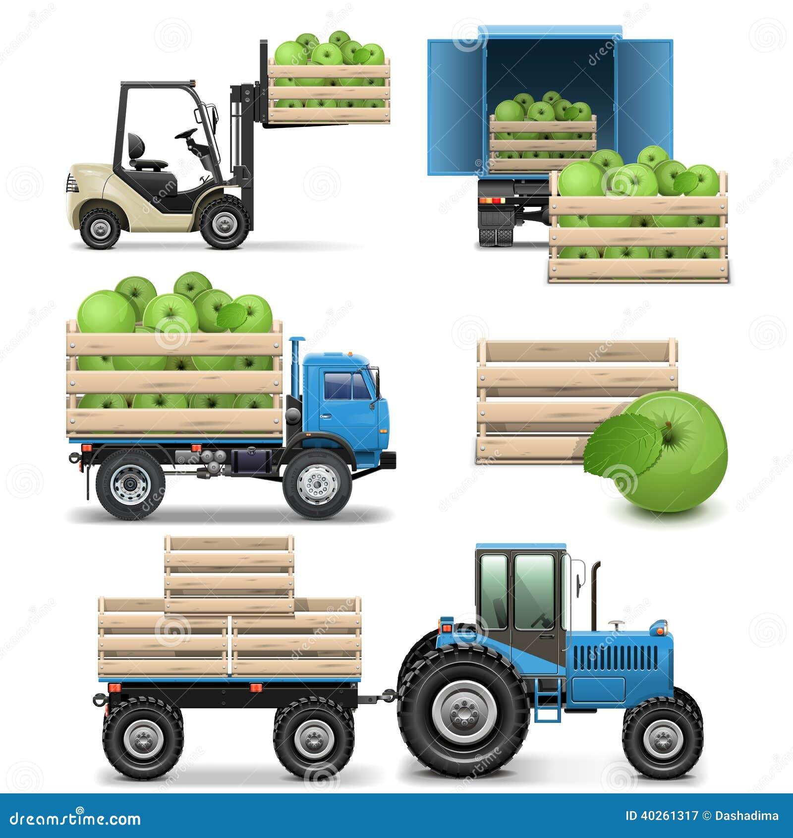 Vektor-landwirtschaftliche Ikonen
