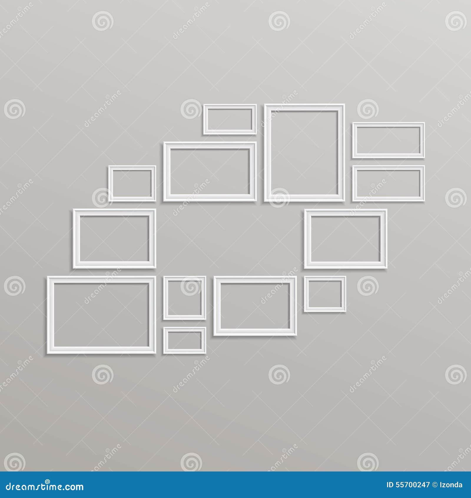vektor-leere bilderrahmen-schablonen-zusammensetzung vektor