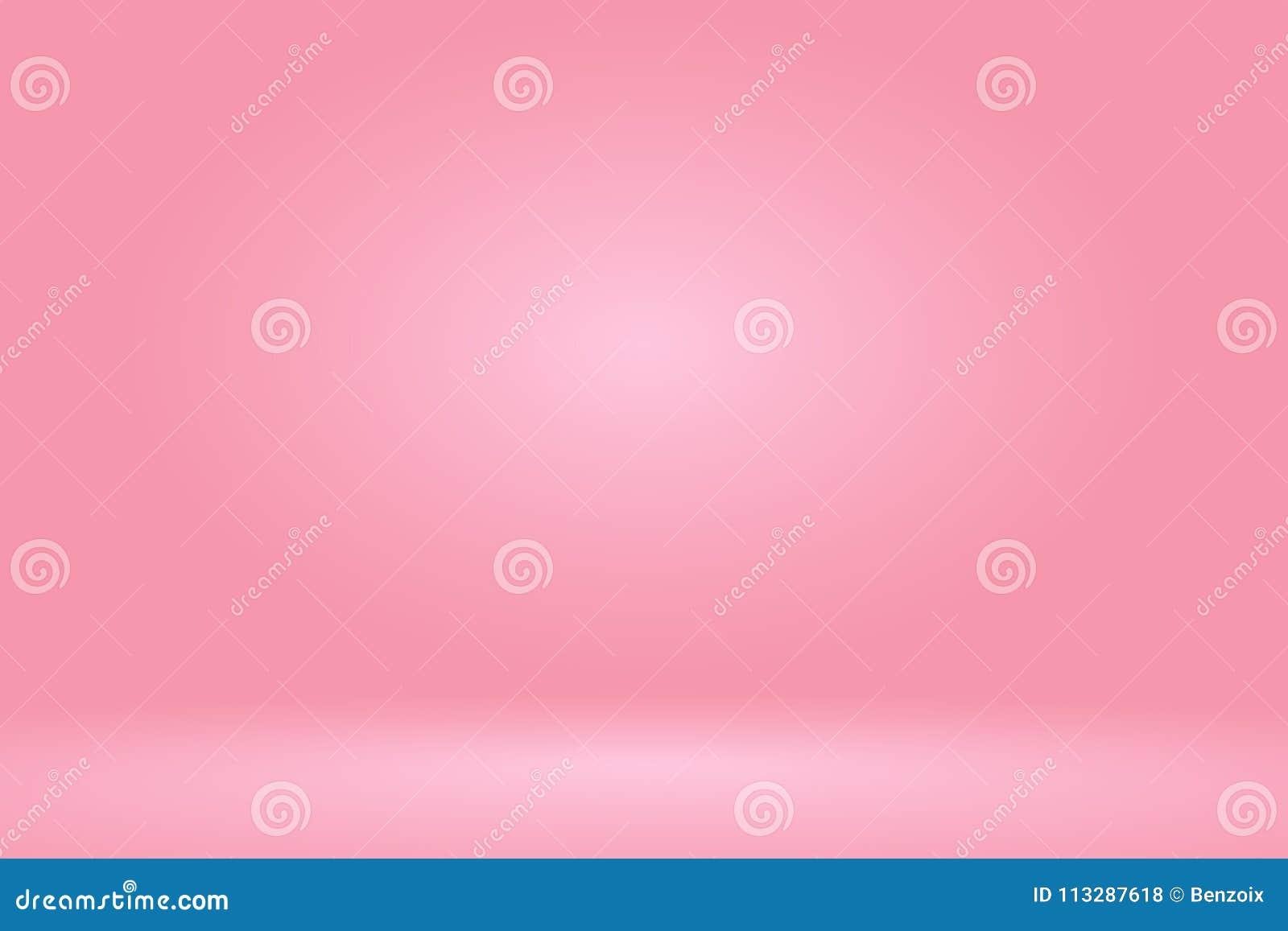 Vektor: Leerer Pastellpfirsichstudio-Raumhintergrund, Schablonenspott oben für Anzeige des Produktes, Geschäftshintergrund