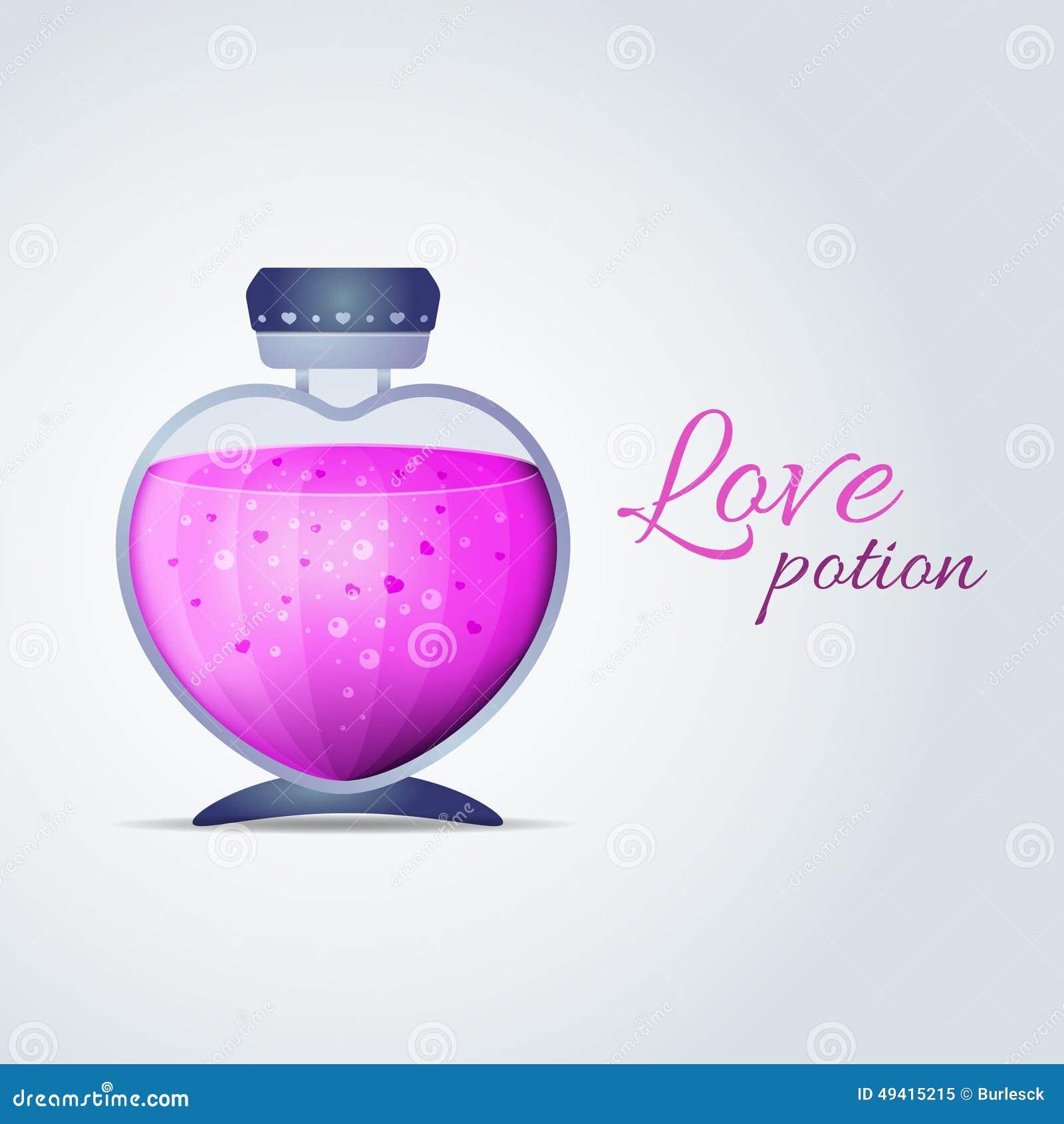 Download Vektor-Liebes-Trank Für Valentinsgruß-Tageskarten Vektor Abbildung - Illustration von flüssigkeit, allüre: 49415215