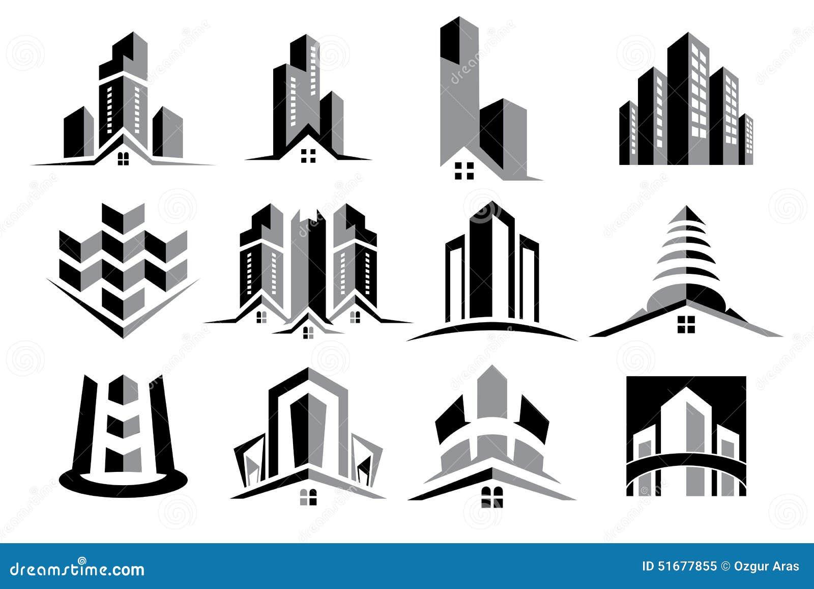 Vektor Logo Real Estate Construction Set
