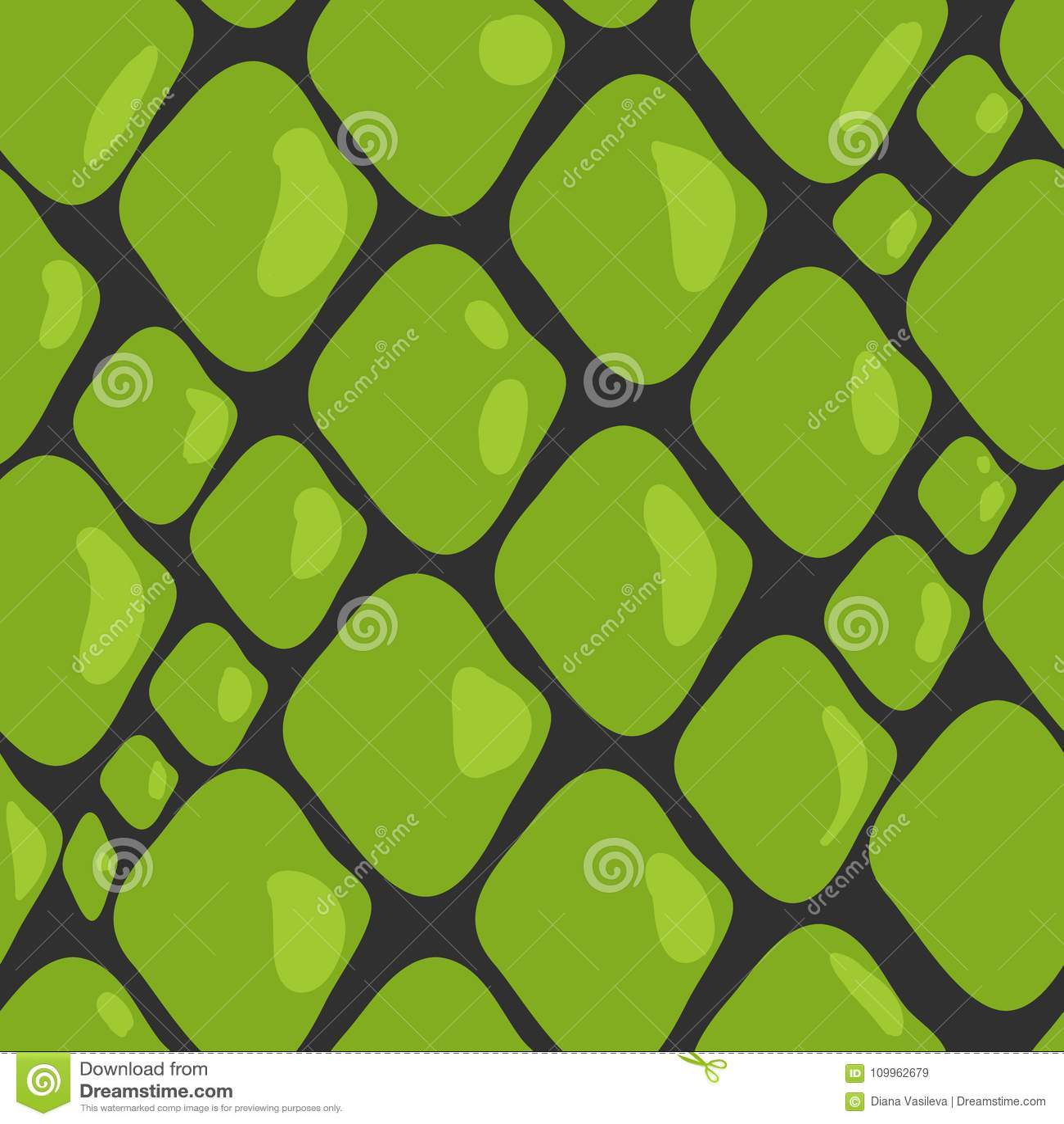 Vektor-Muster der grüne Schlangen-Haut